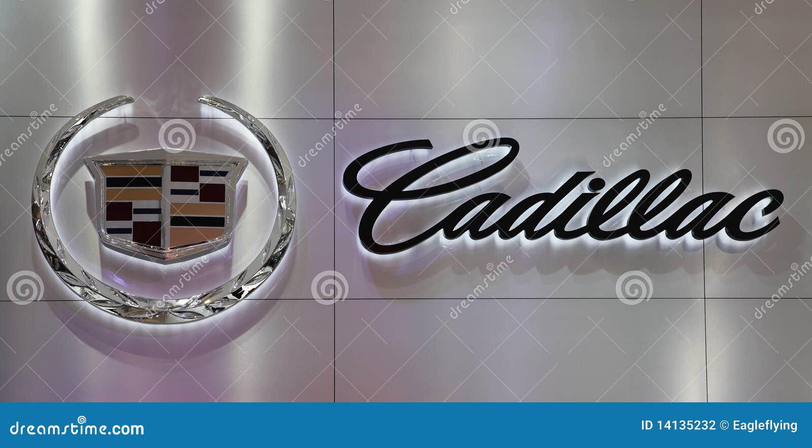Logo of Cadillac at Auto China 2010