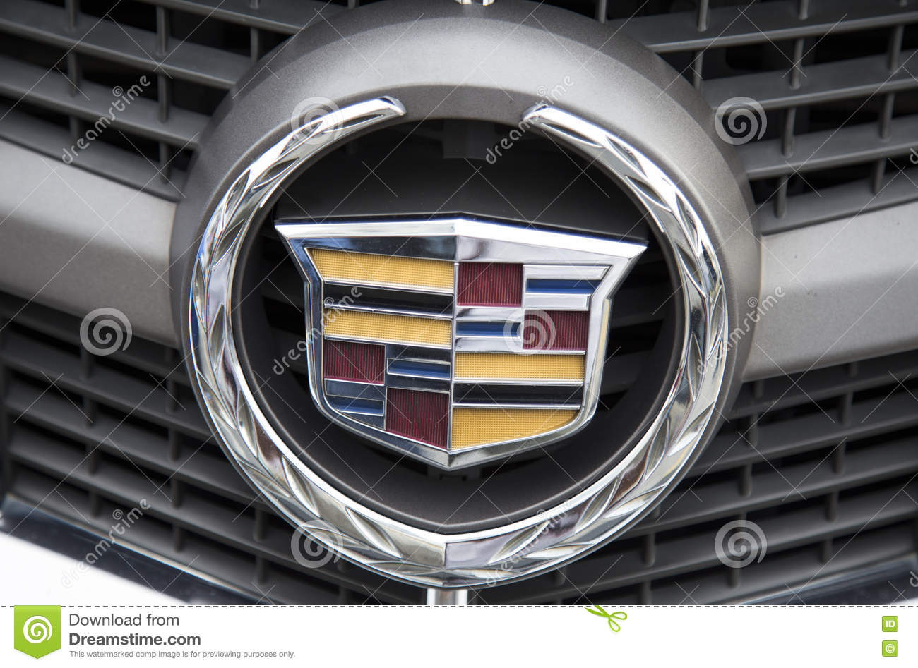 Logo Of Cadillac On The Car Front Taken Within A Test Drive
