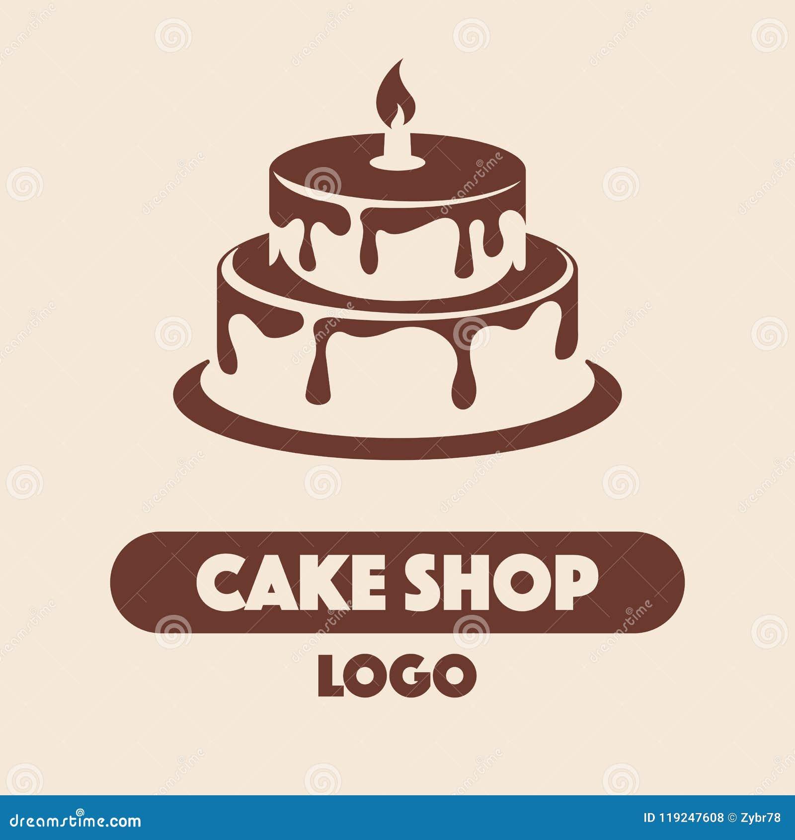 Logo Cake Shop Stock Vector Illustration Of Design 119247608