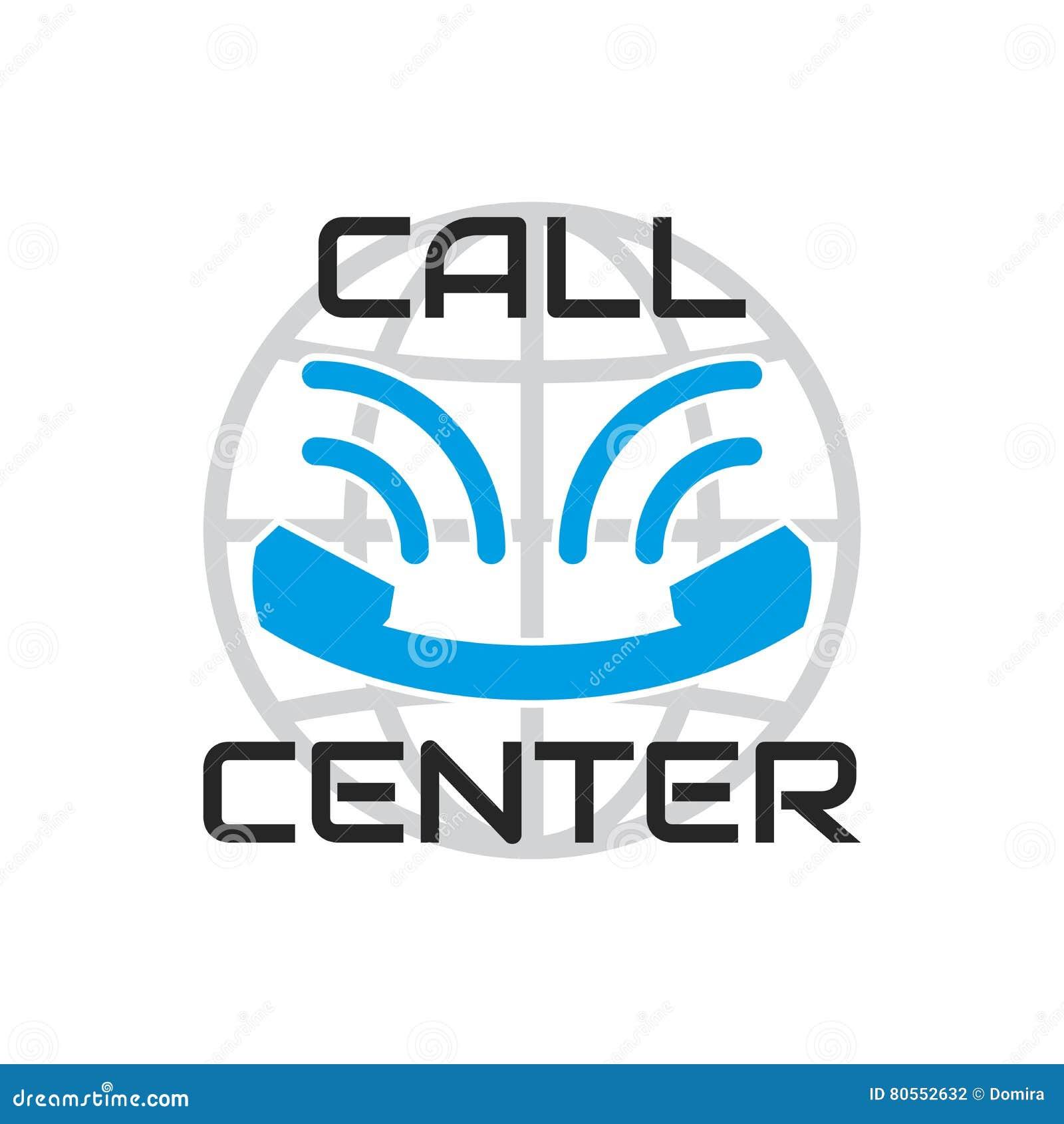 logo call center looks like smile blue old phone handset stock vector illustration of communication centralised 80552632 dreamstime com