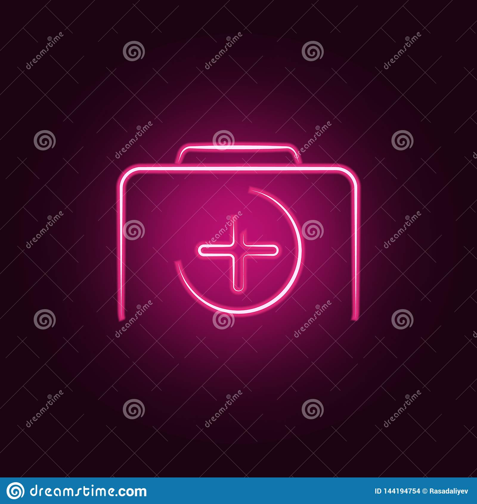 Logo Camera Plus Icon  Elements Of Photo In Neon Style Icons