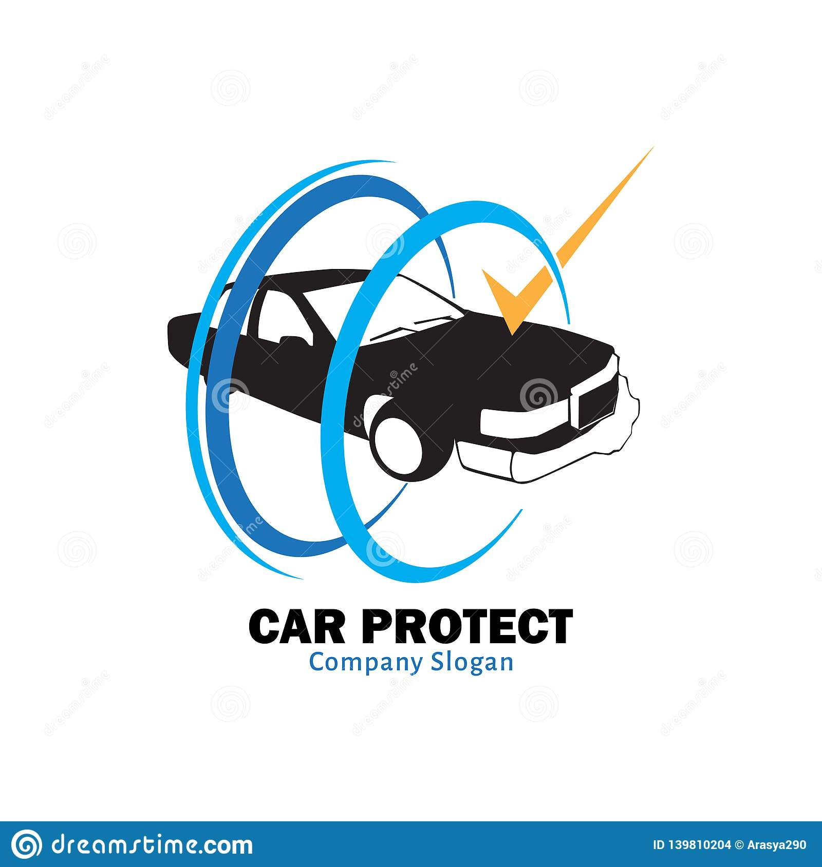 Car Protect For Insurance Company Stock Vector Illustration Of