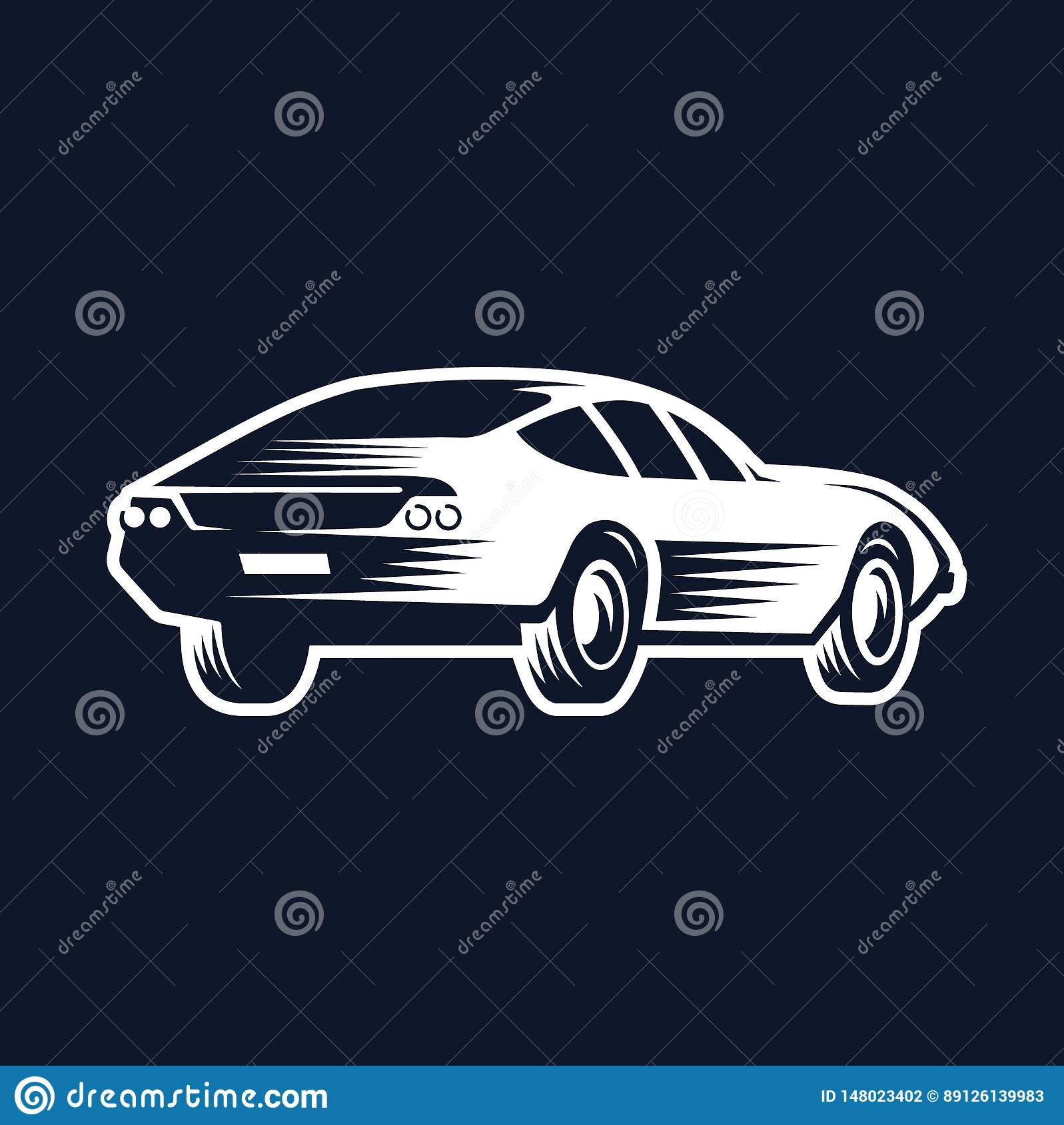 Logo Of The Car  Back View  Stock Vector - Illustration of