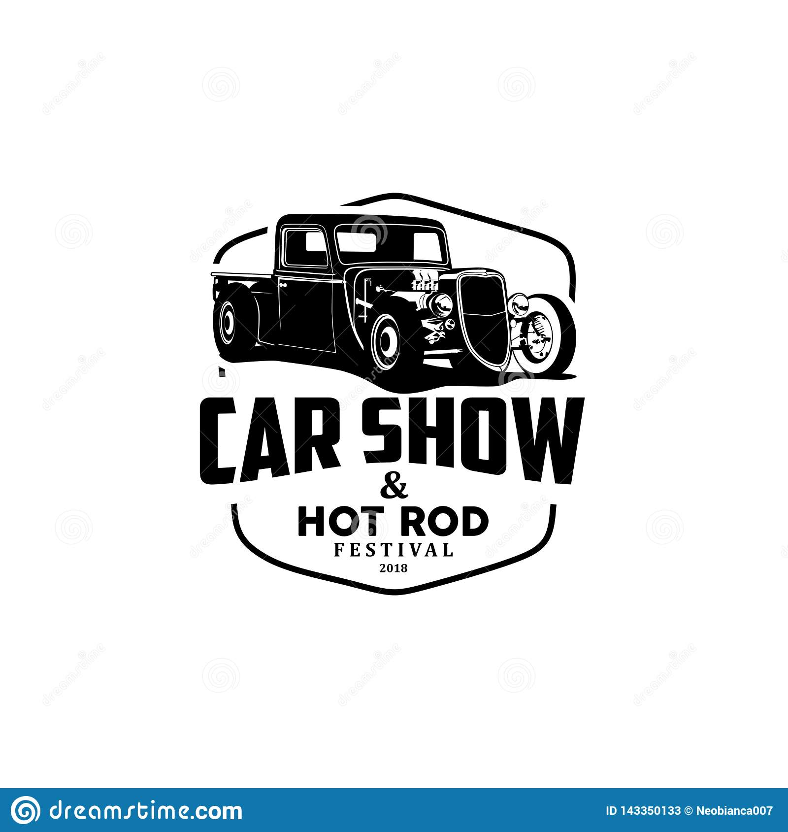 Car Show And Hot Rod Logo Vector Stock Vector Illustration Of