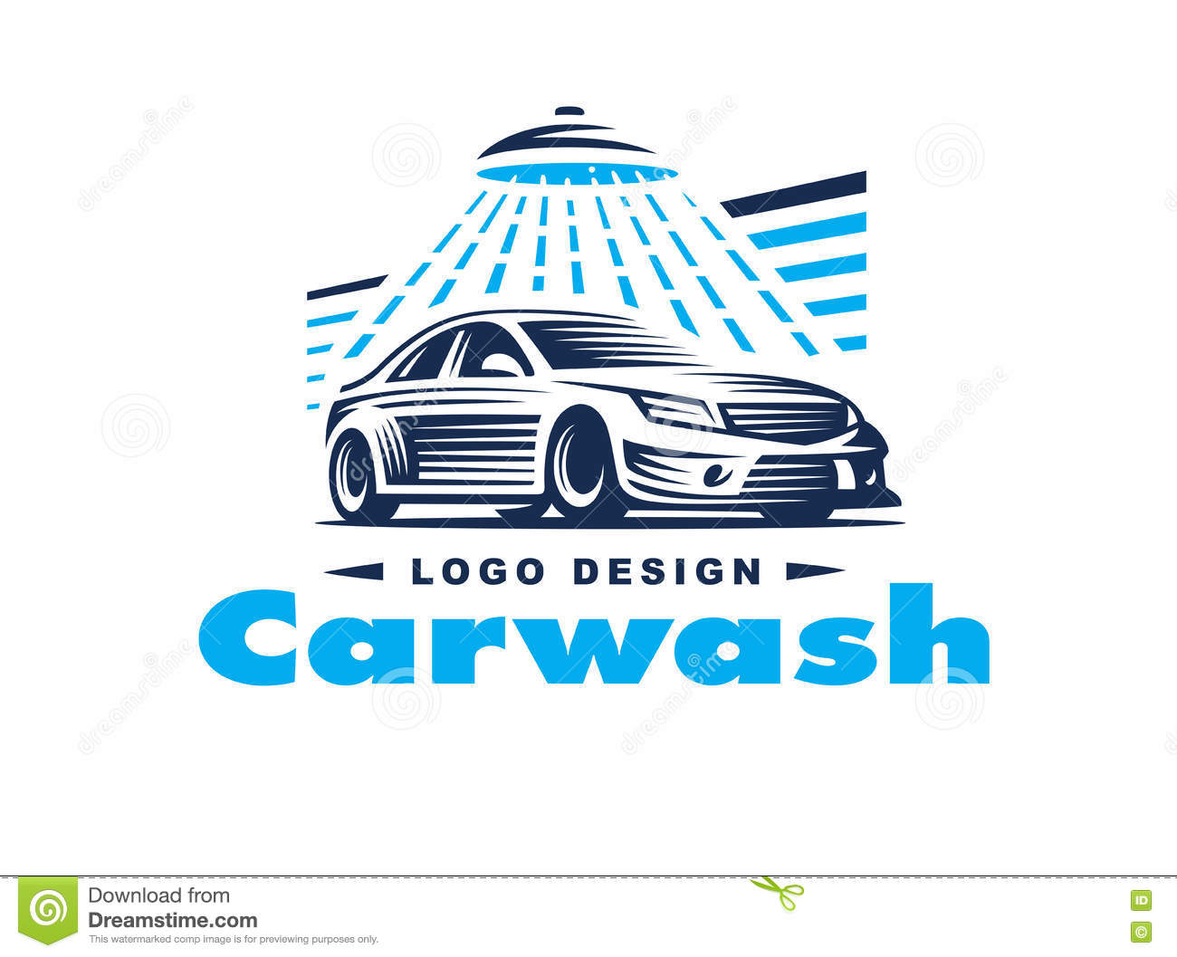 Car Wash Logo Template Stock Vector - Image: 44968910