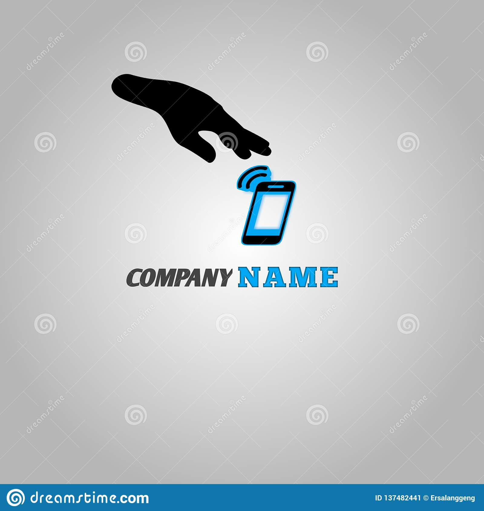 Logo For Cellphone Company For All People Stock Illustration