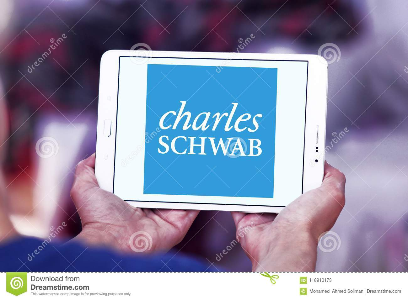 Charles Schwab Corporation Logo Editorial Stock Photo Image Of