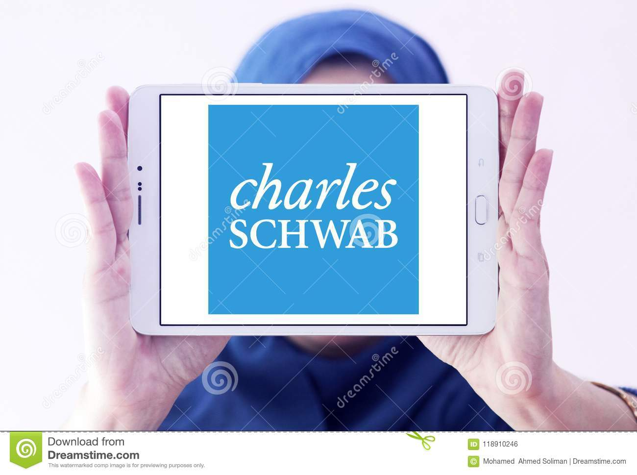 Charles Schwab Corporation Logo Editorial Photo Image Of