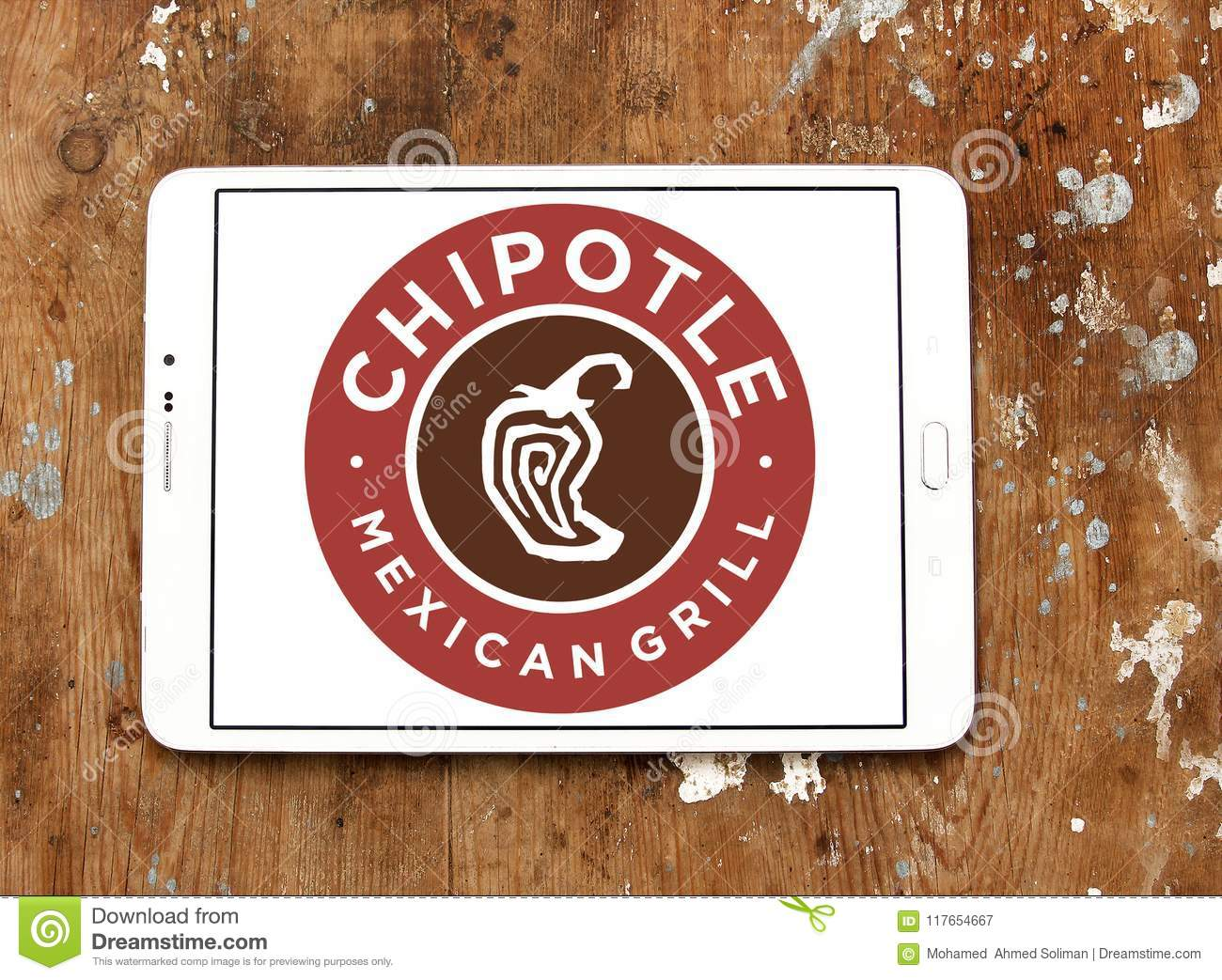 Chipotle Mexican Grill Fast Food Logo Editorial Photography Image