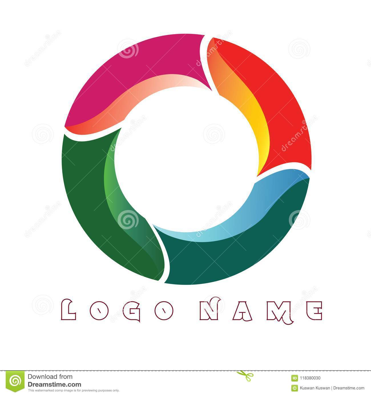 logo circle letter o full color template logo for company or store optcal