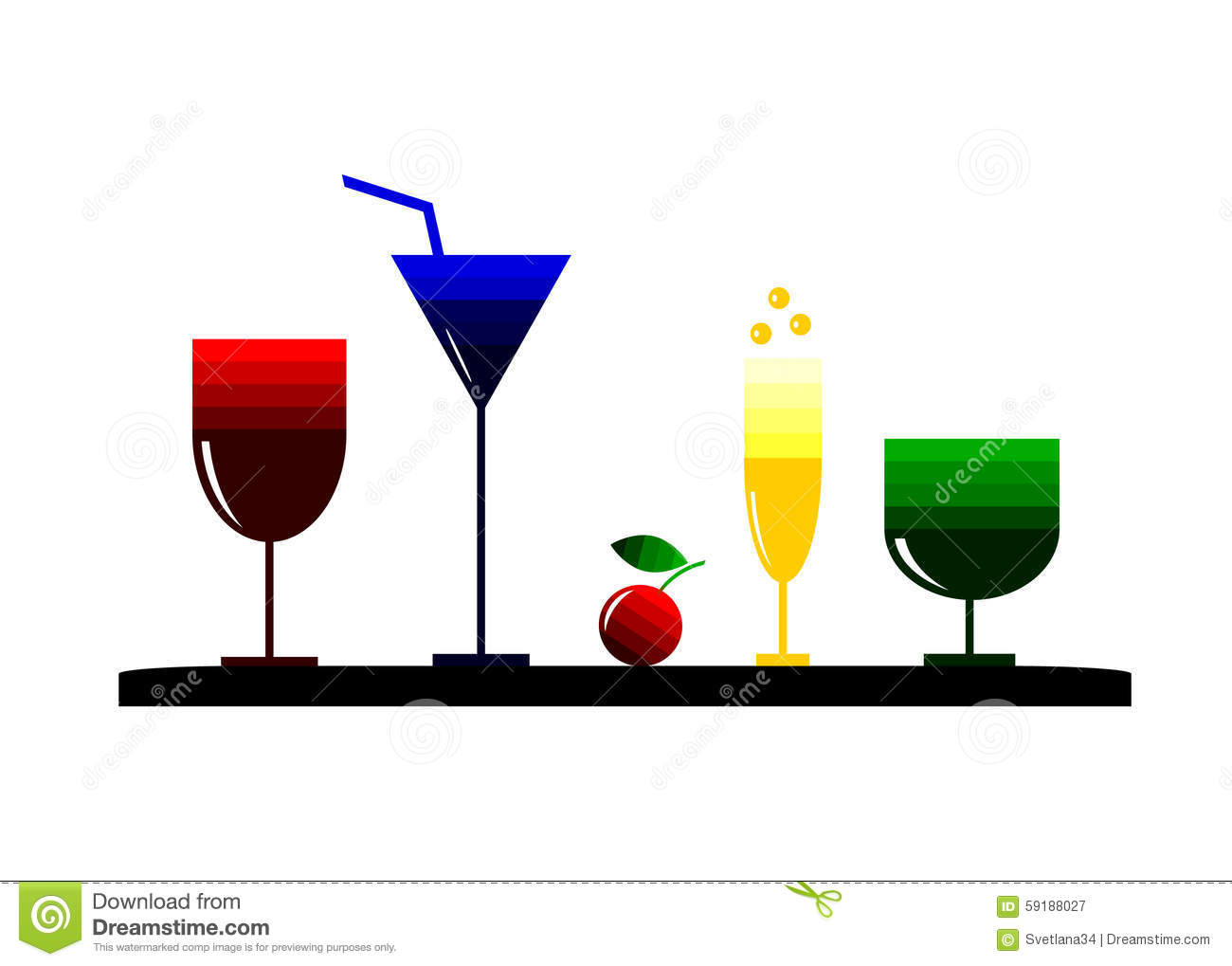 Logo Cocktail. Stock Vector - Image: 59188027