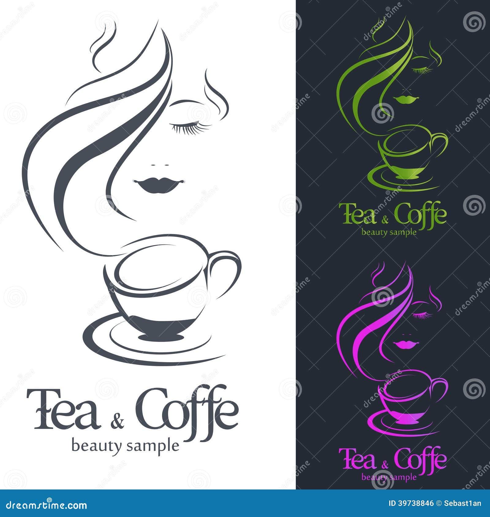 Логотипы чая кофе