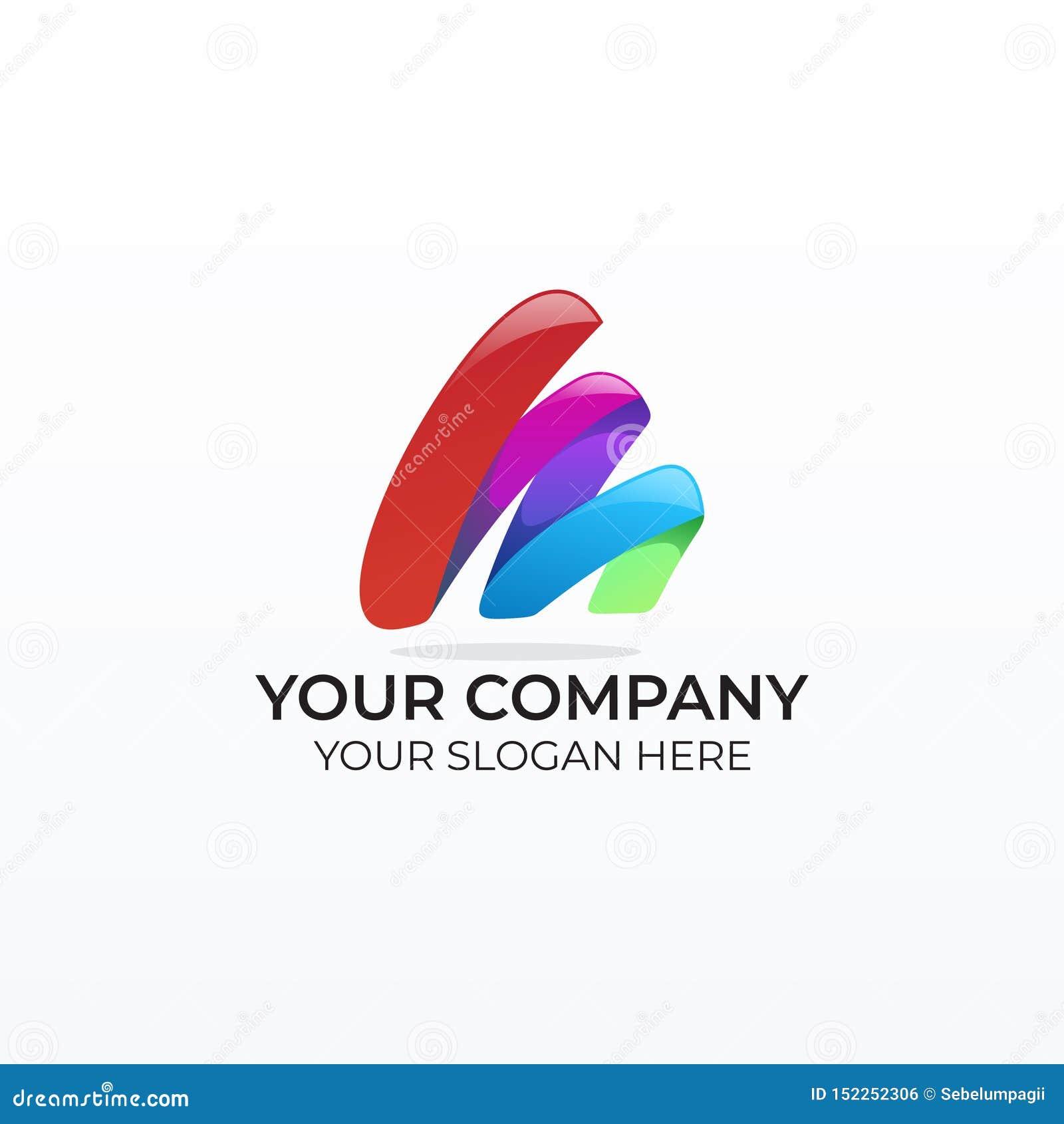 Logo coloré d affaires de la lettre m