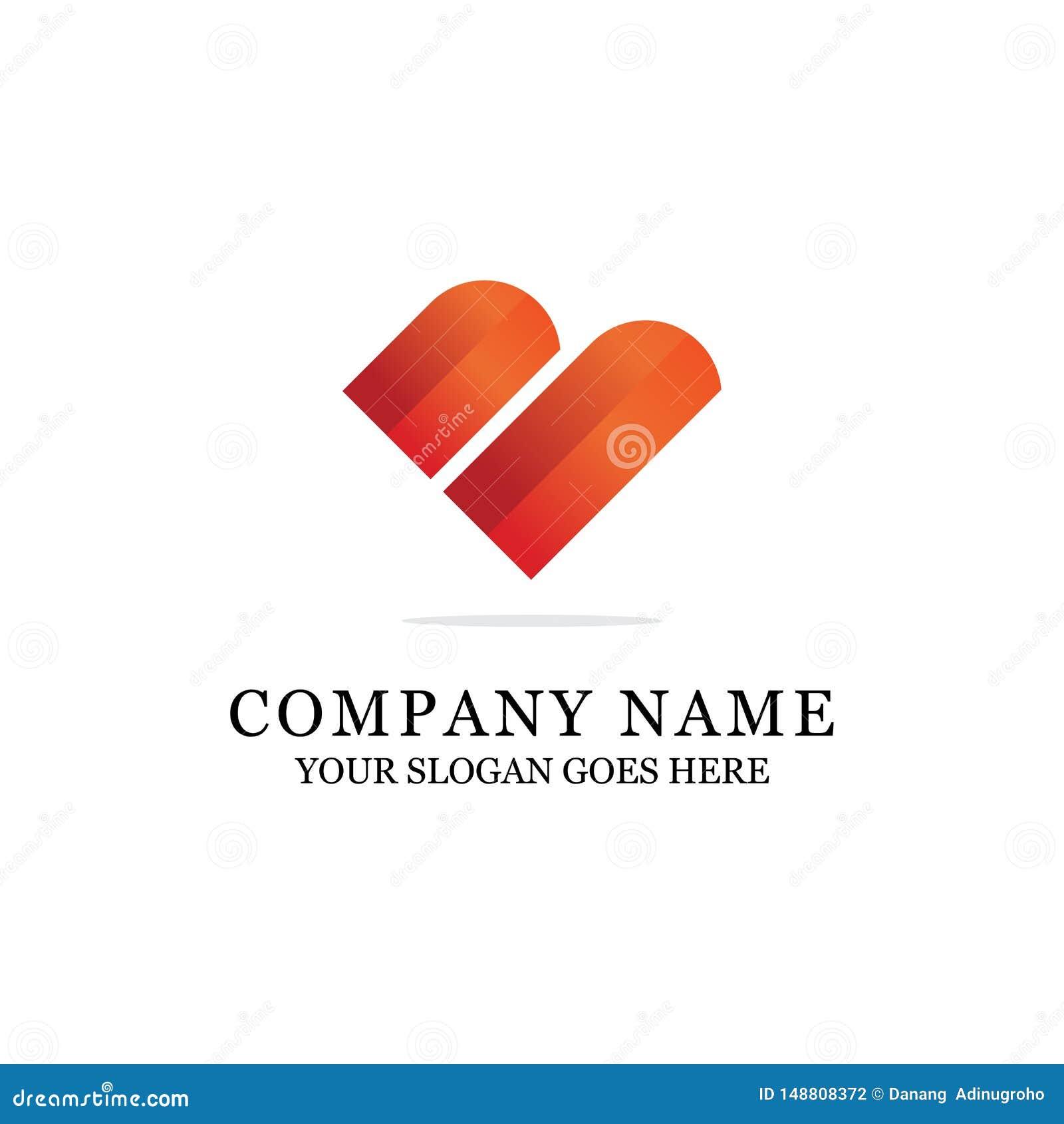 Logo coloré de lettre initiale moderne de B ou d amour
