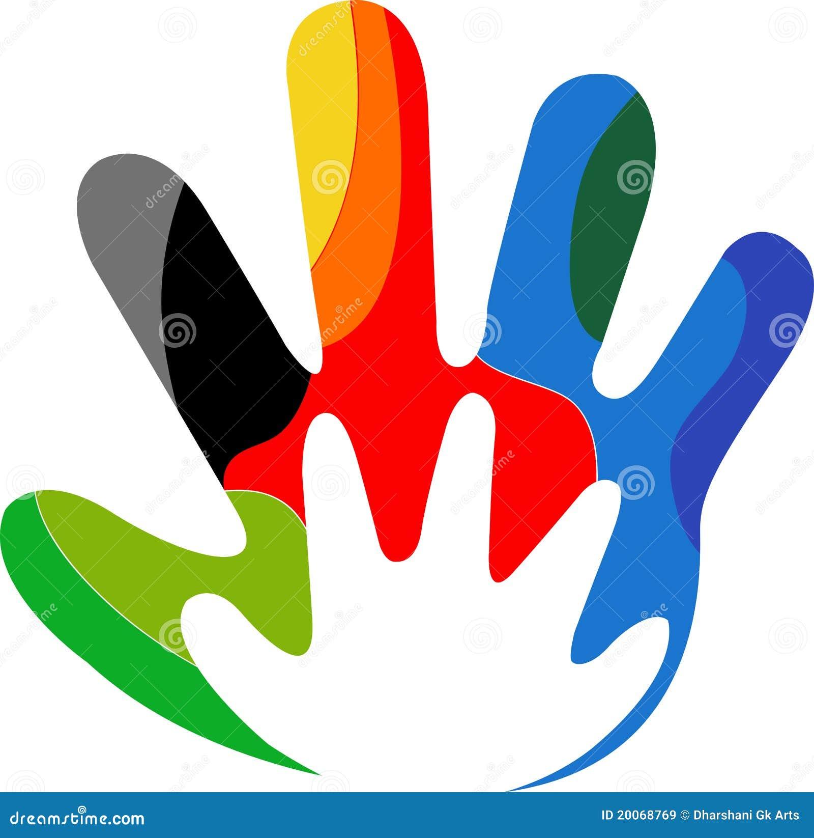 Logo coloré de main