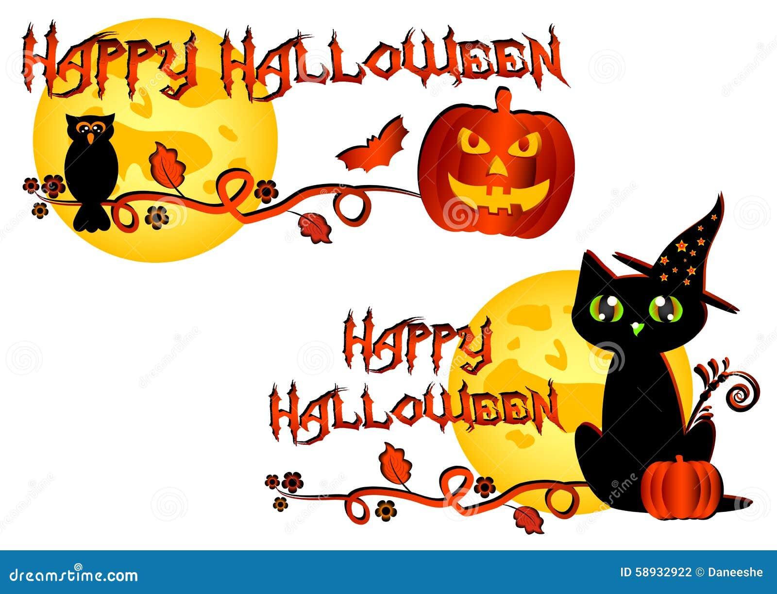 logo coloré pour des cartes et salutations sur le thème de halloween