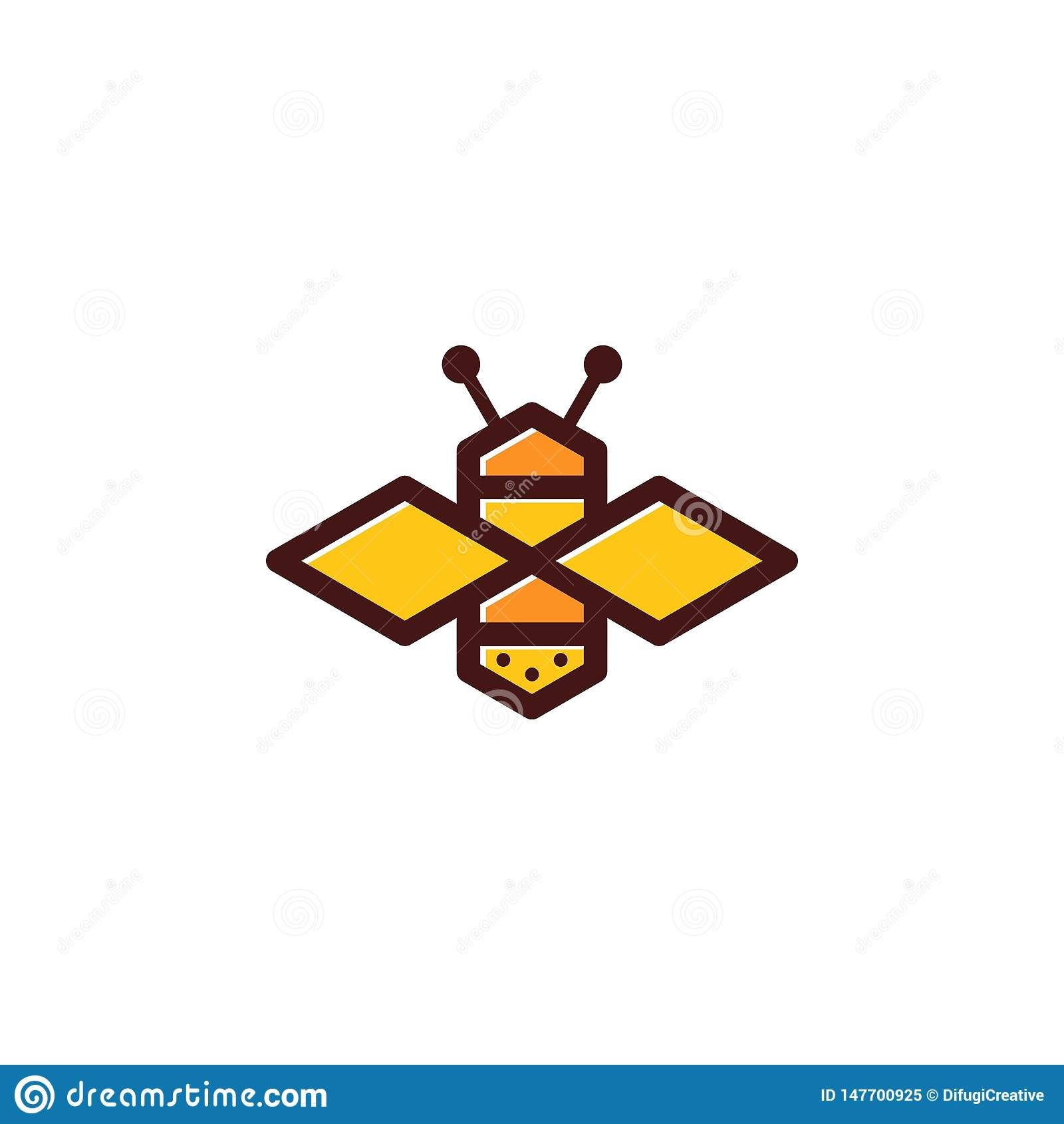 Logo colorato ape semplice