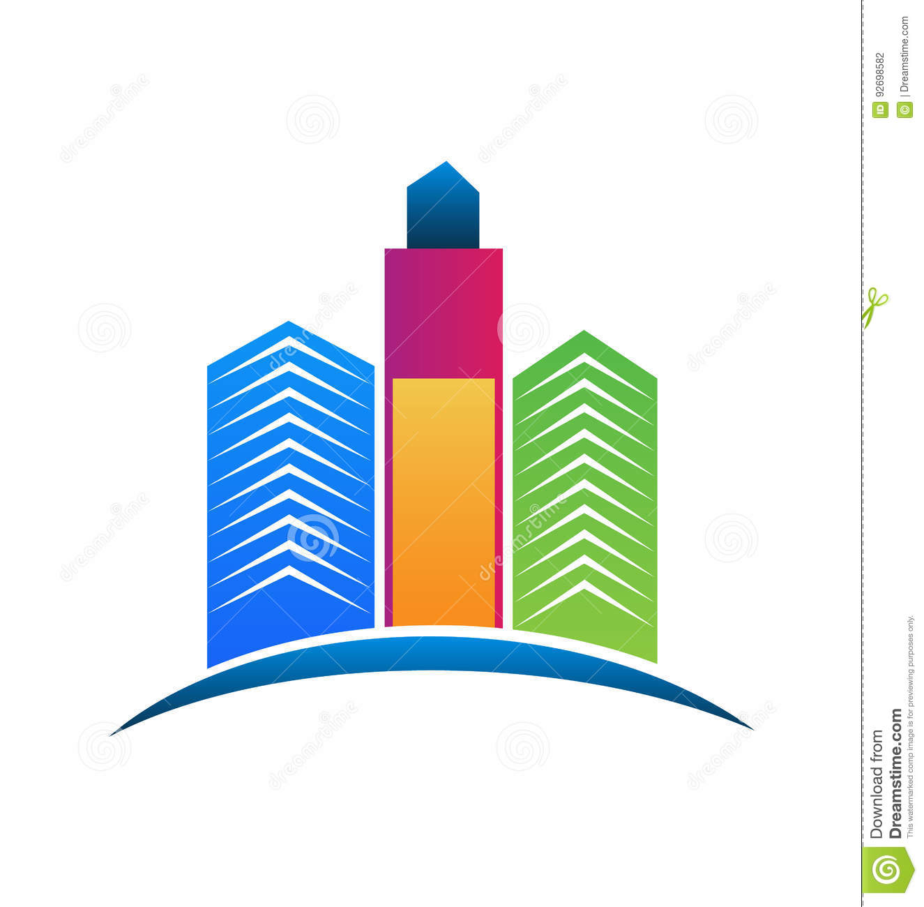 logo colorful real estate city buildings stock vector illustration rh dreamstime com building brochure design vector free download building logo vector design