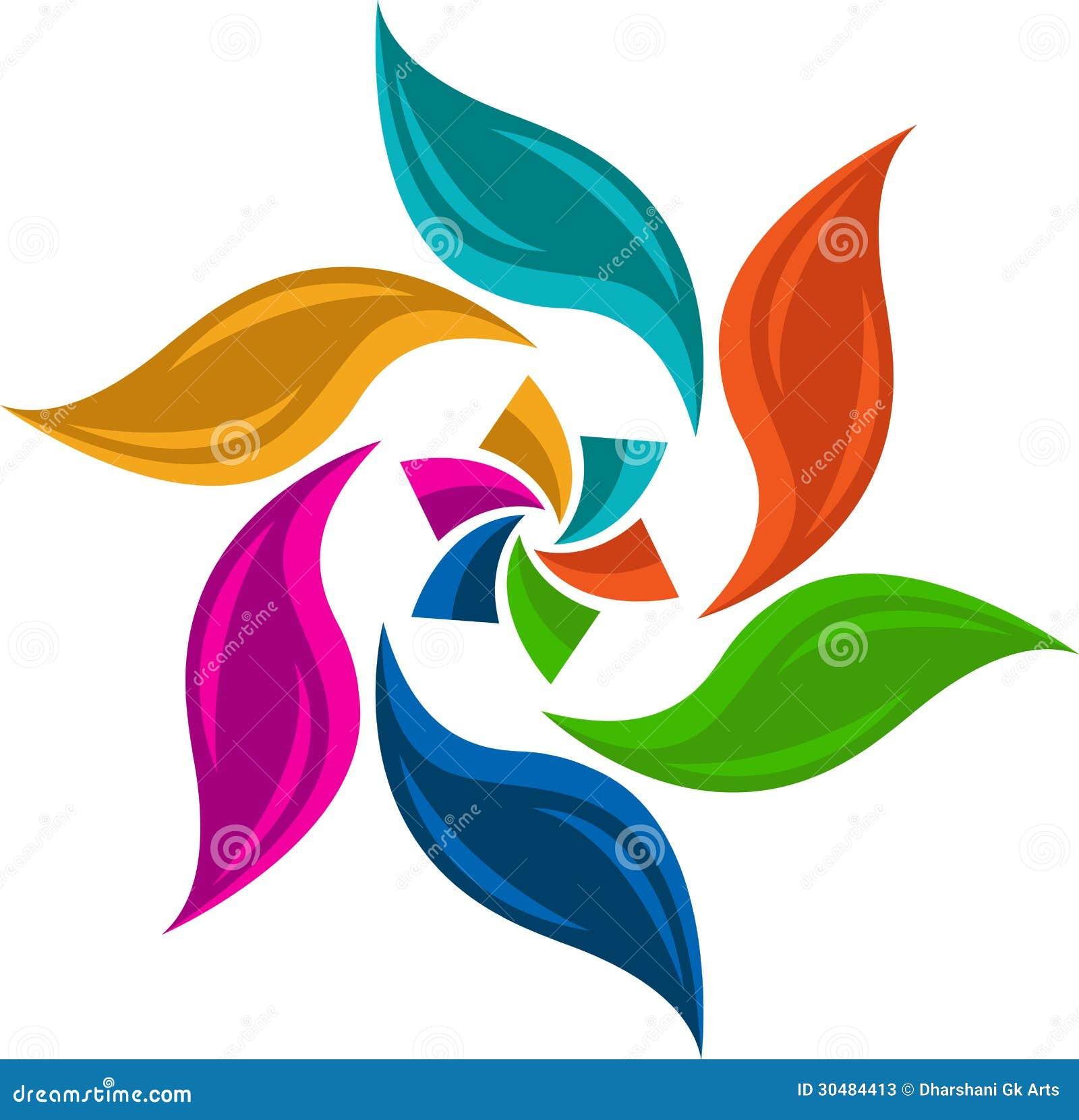 Logo Colourful della foglia