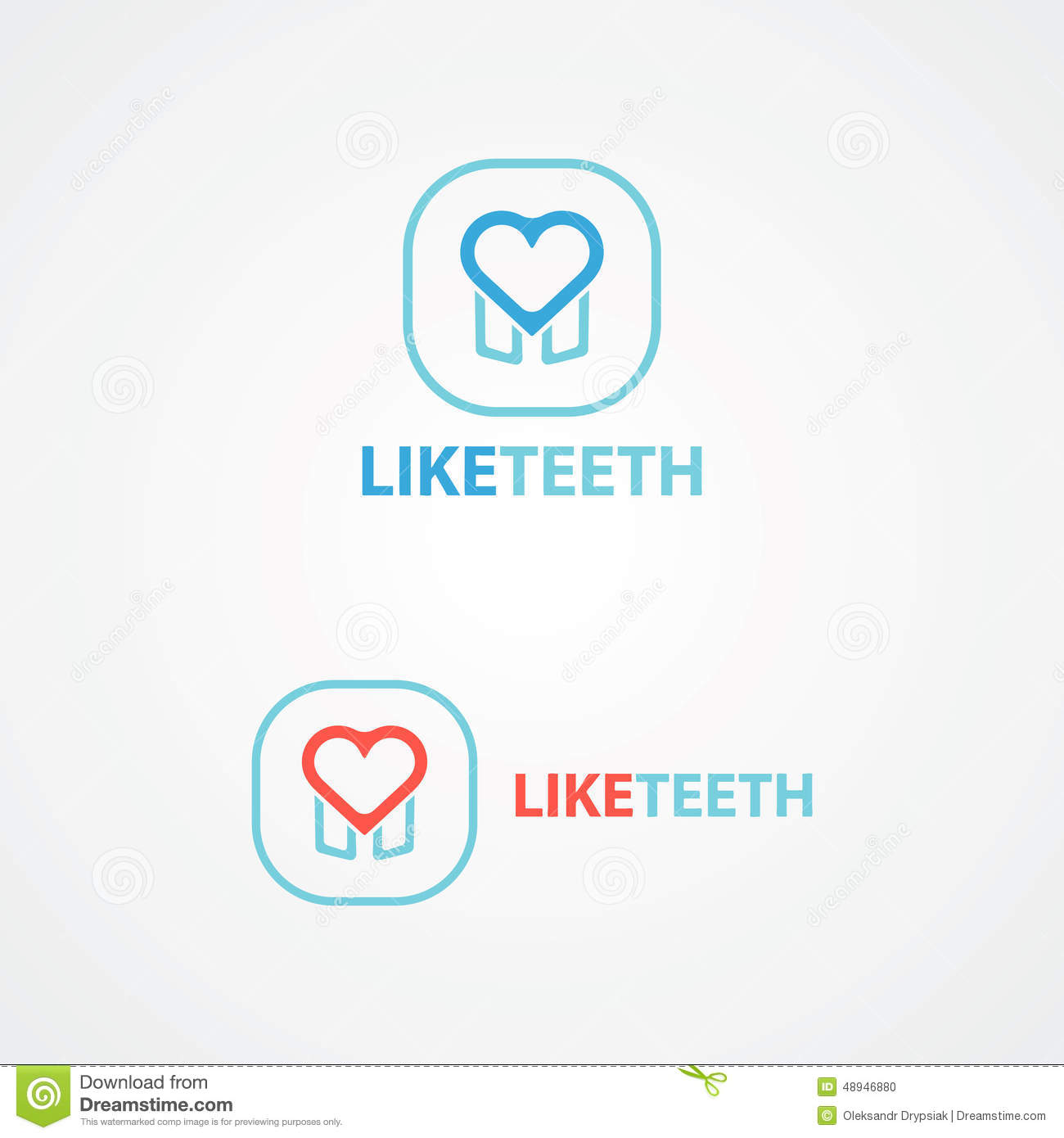 Logo Combination Of A Tooth And Heart Stock Vector Illustration