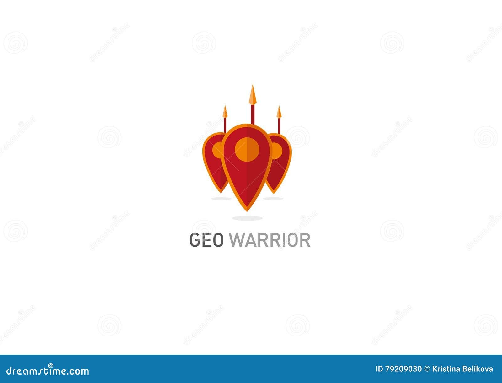 Logo créateur Marque géométrique un bouclier de chevalier