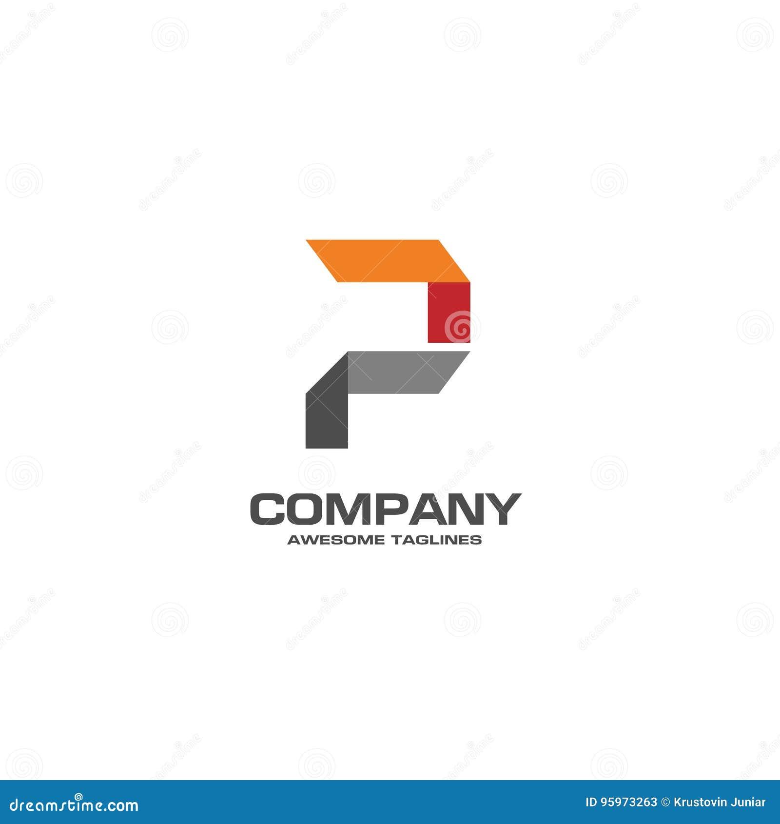Logo Créatif De La Lettre P Illustration de Vecteur - Illustration ...