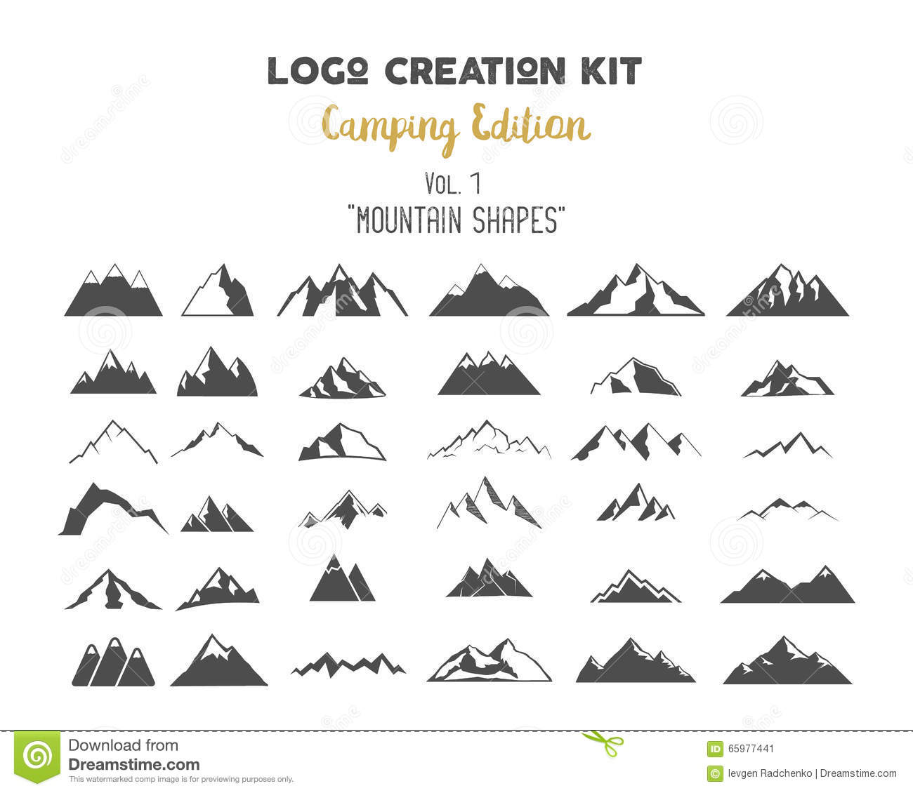 Logo Creation Kit Bundle  Camping Edition Set  Mountain