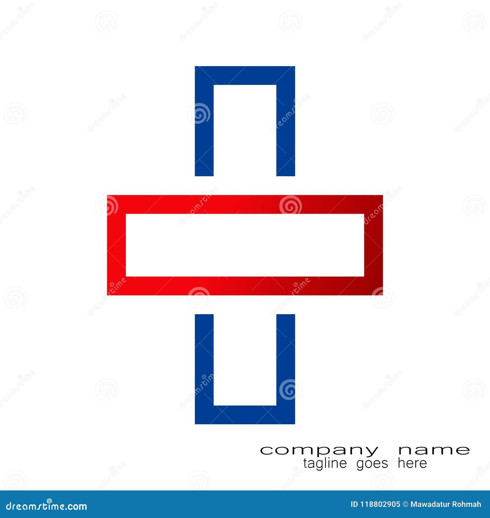 Logo creativo dell incrocio di schema di campionamento