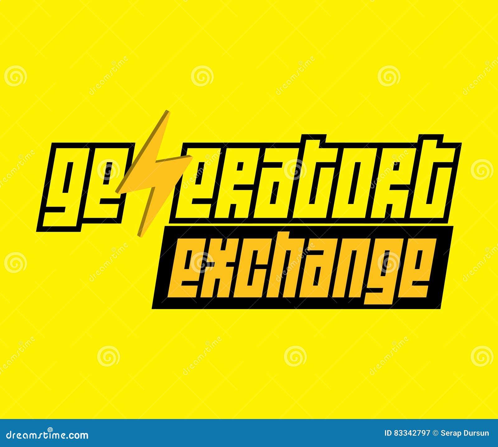 Logo d échange de générateur