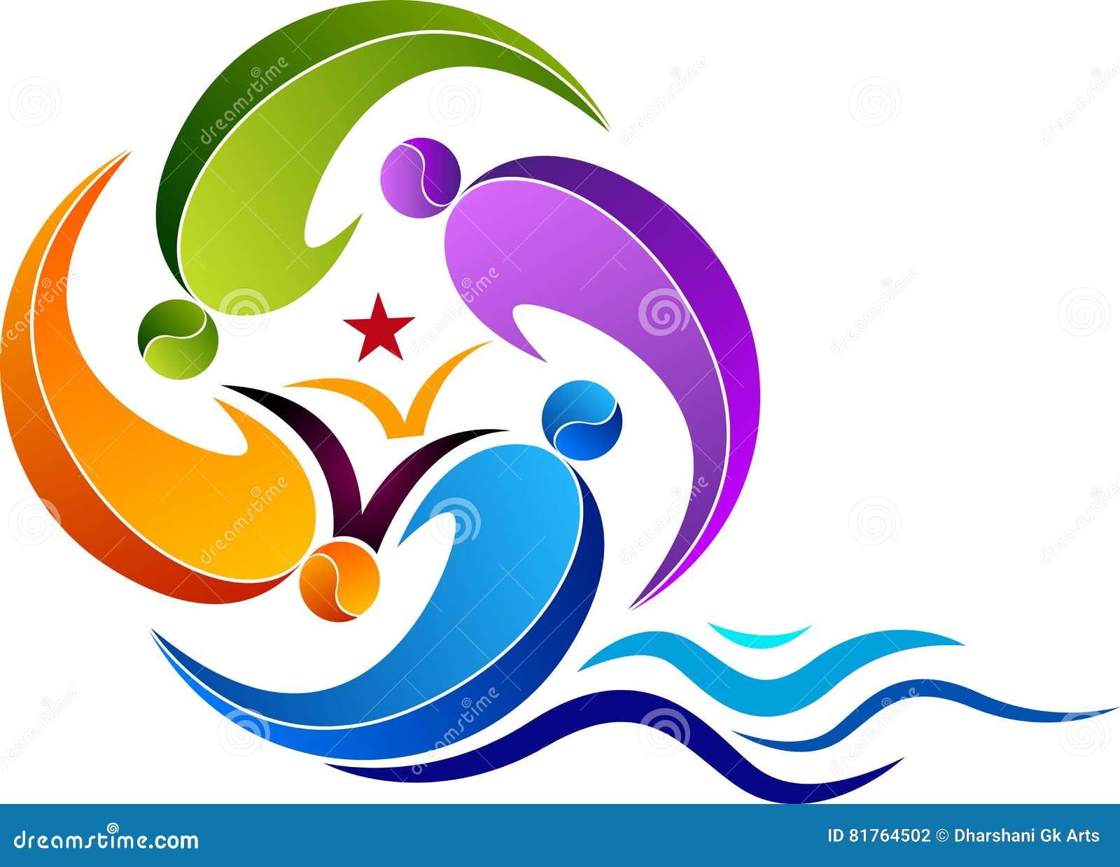 Logo d éducation de natation