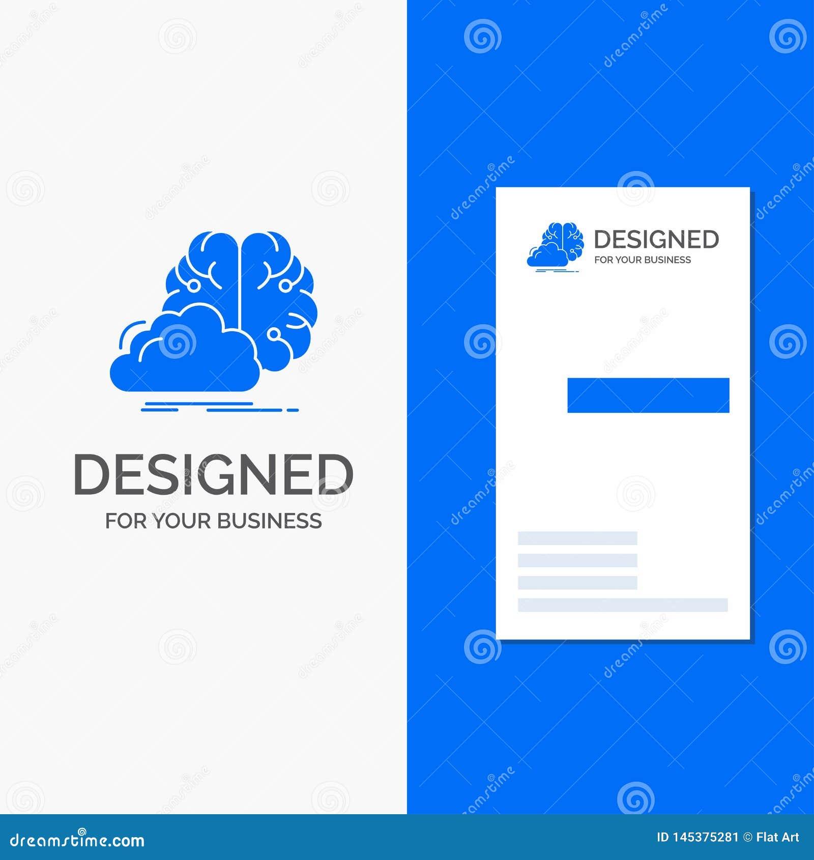 Logo d affaires pour faire un brainstorm, cr?atif, id?e, innovation, inspiration Calibre bleu vertical de carte d affaires/de vis