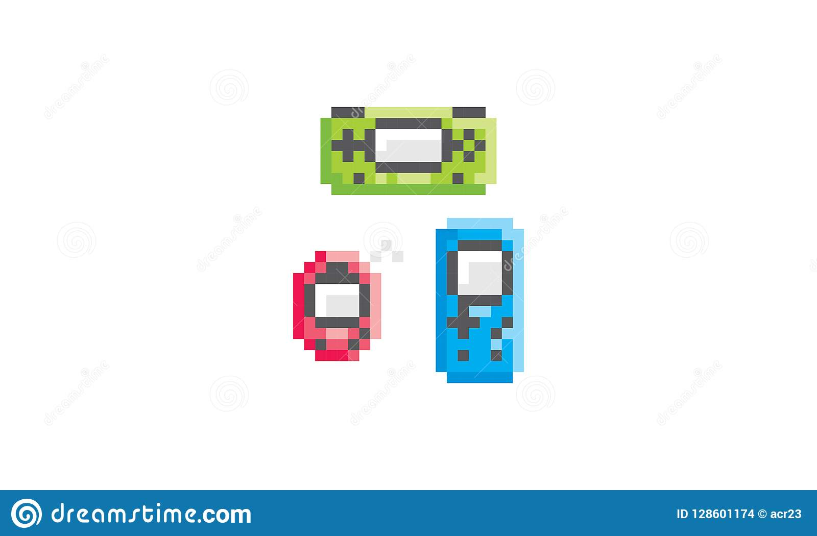Logo Dart Video Game Vector Icon De Pixel Illustration De