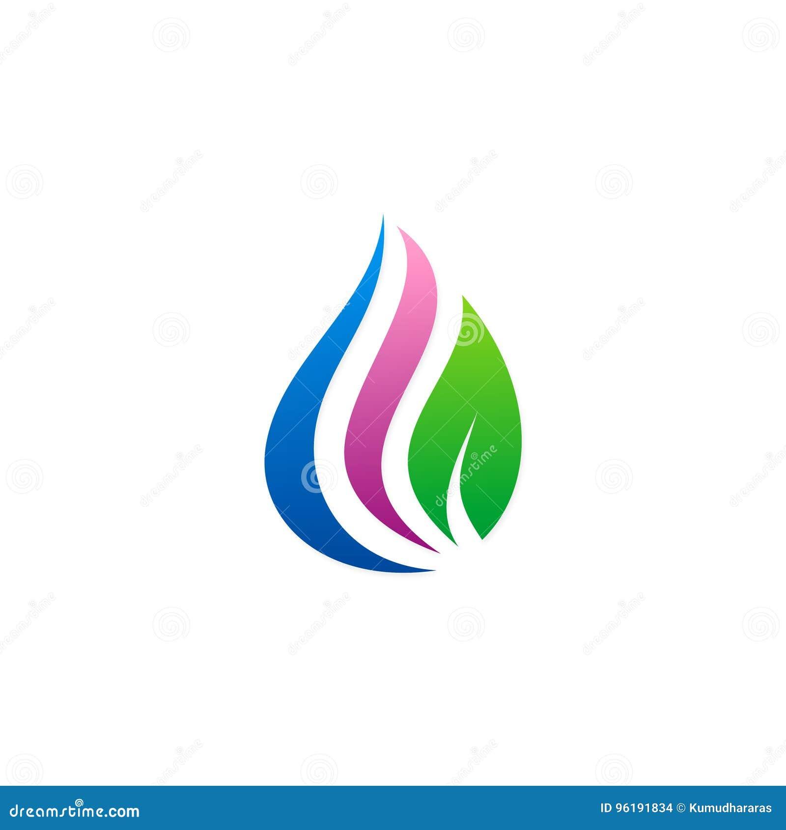 Logo d eco de gouttelette de beauté