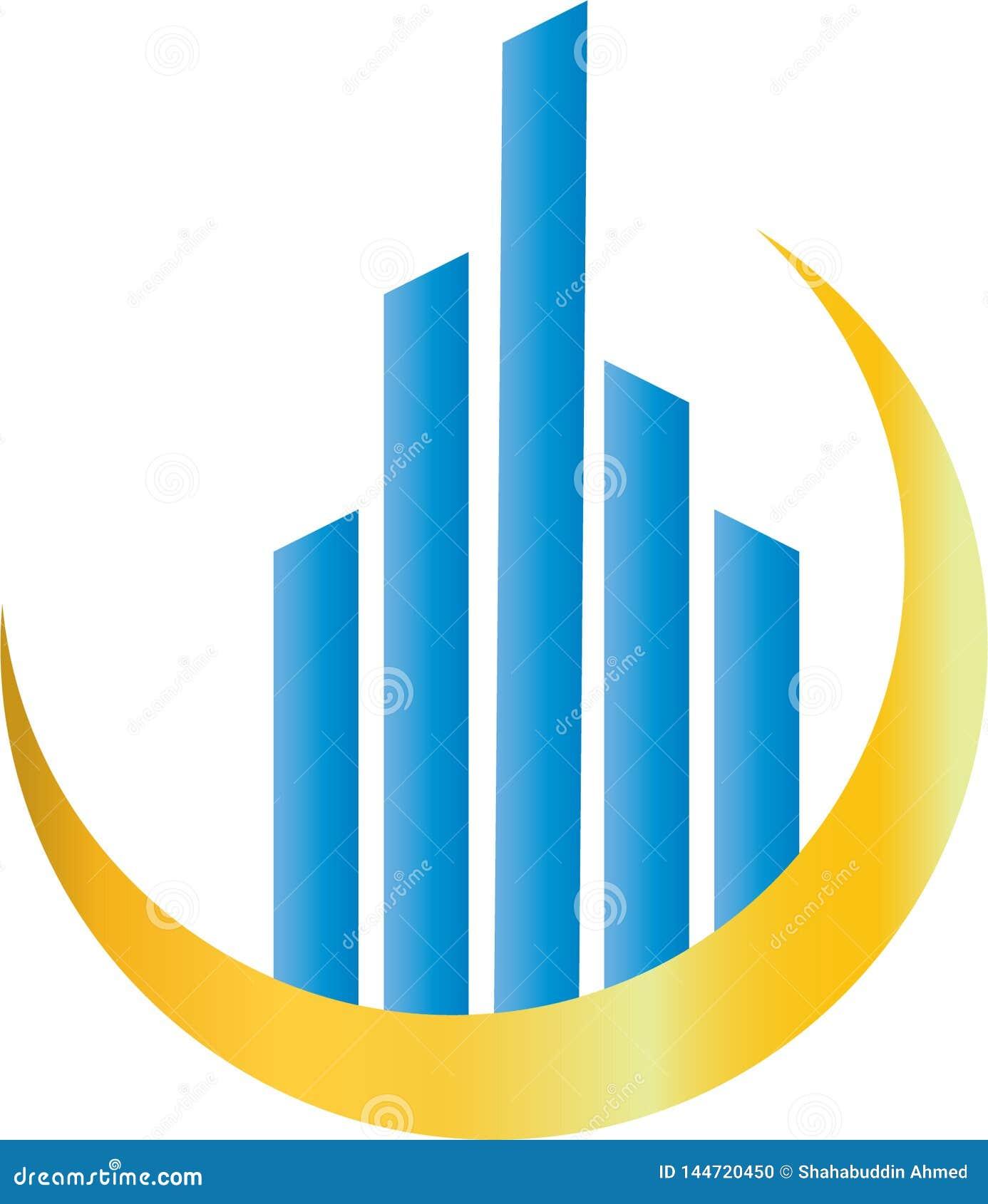 Logo D Entreprise Immobiliere Logo Template De Batiment De Propriete Et De Construction Illustration De Vecteur Illustration Du Entreprise Propriete 144720450