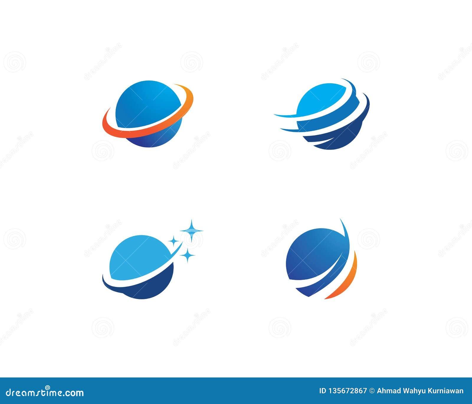 Logo d ilustration de globe