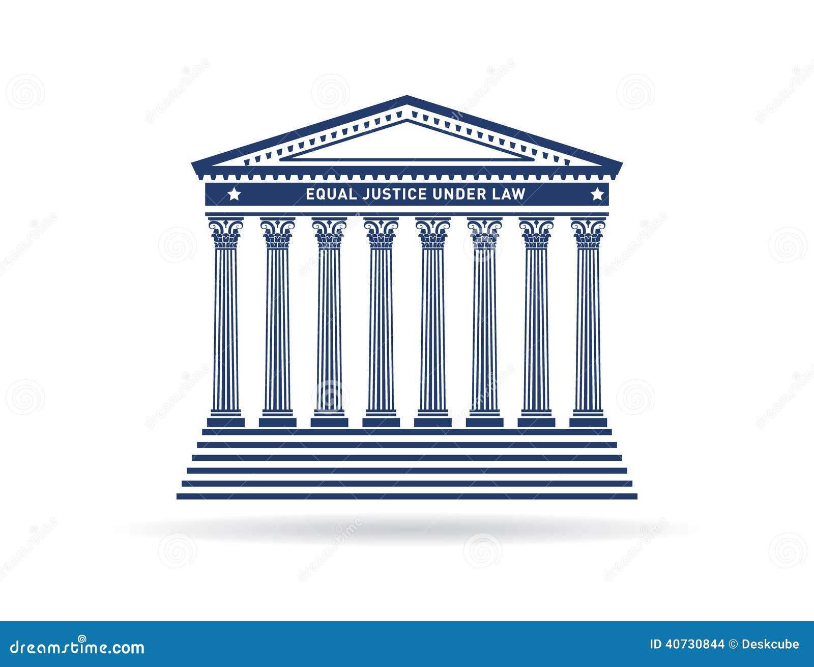 Logo d image de bâtiment de cour de justice