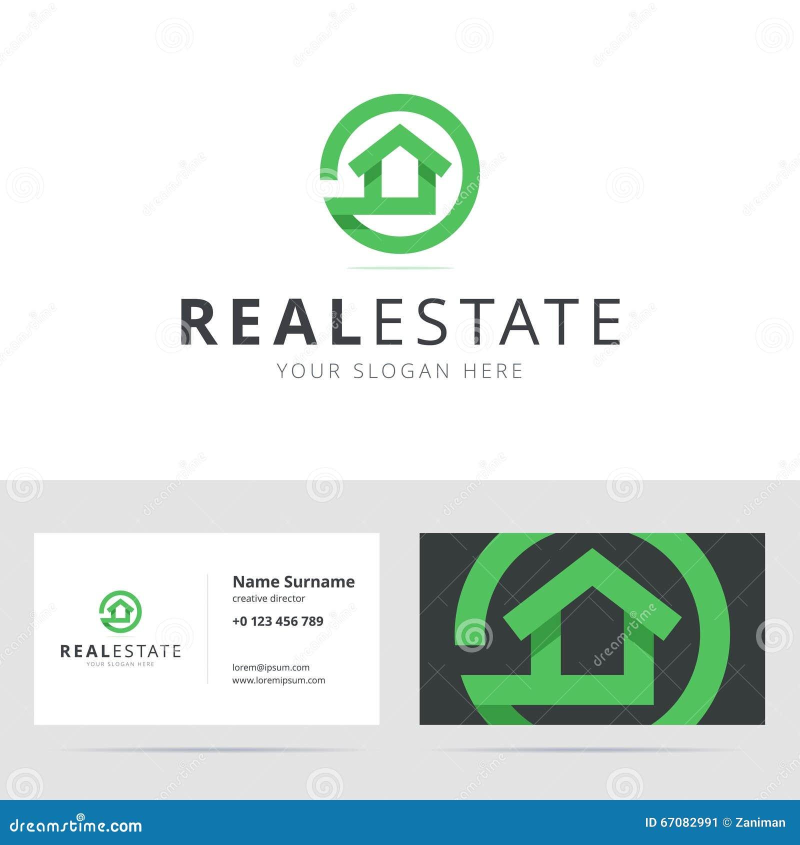 Logo D Immobiliers Et Calibre De Carte Visite Professionnelle