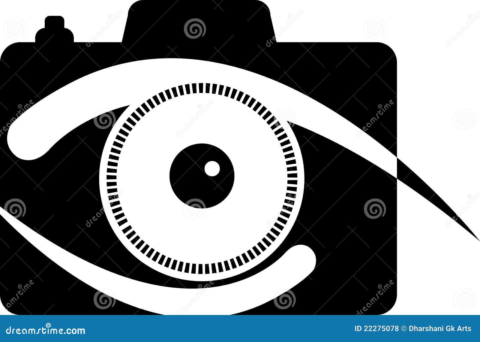 Logo d oeil d appareil-photo