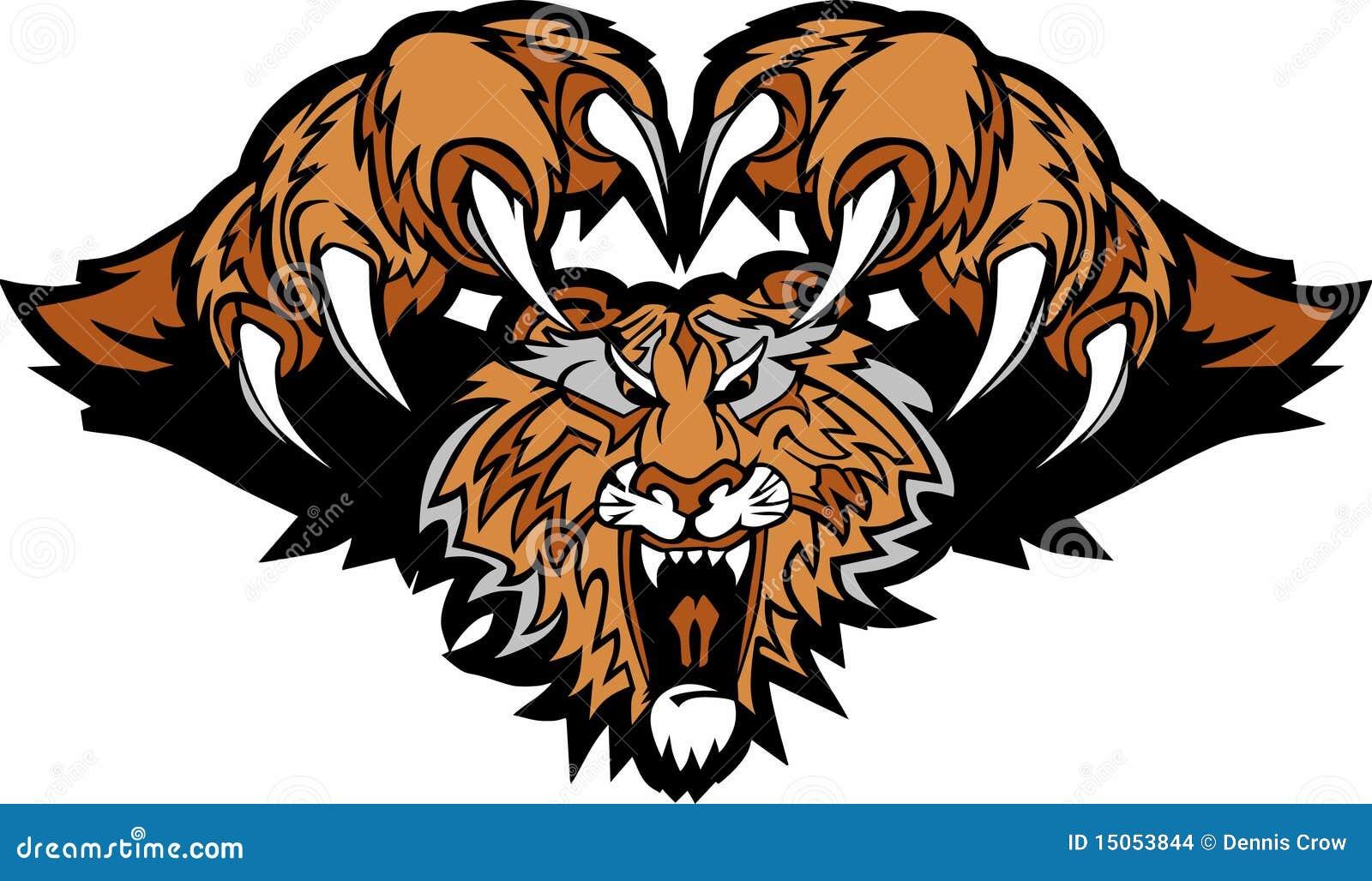 Très Logo De Attaque Subit De Mascotte De Tigre Illustration de Vecteur  MX63