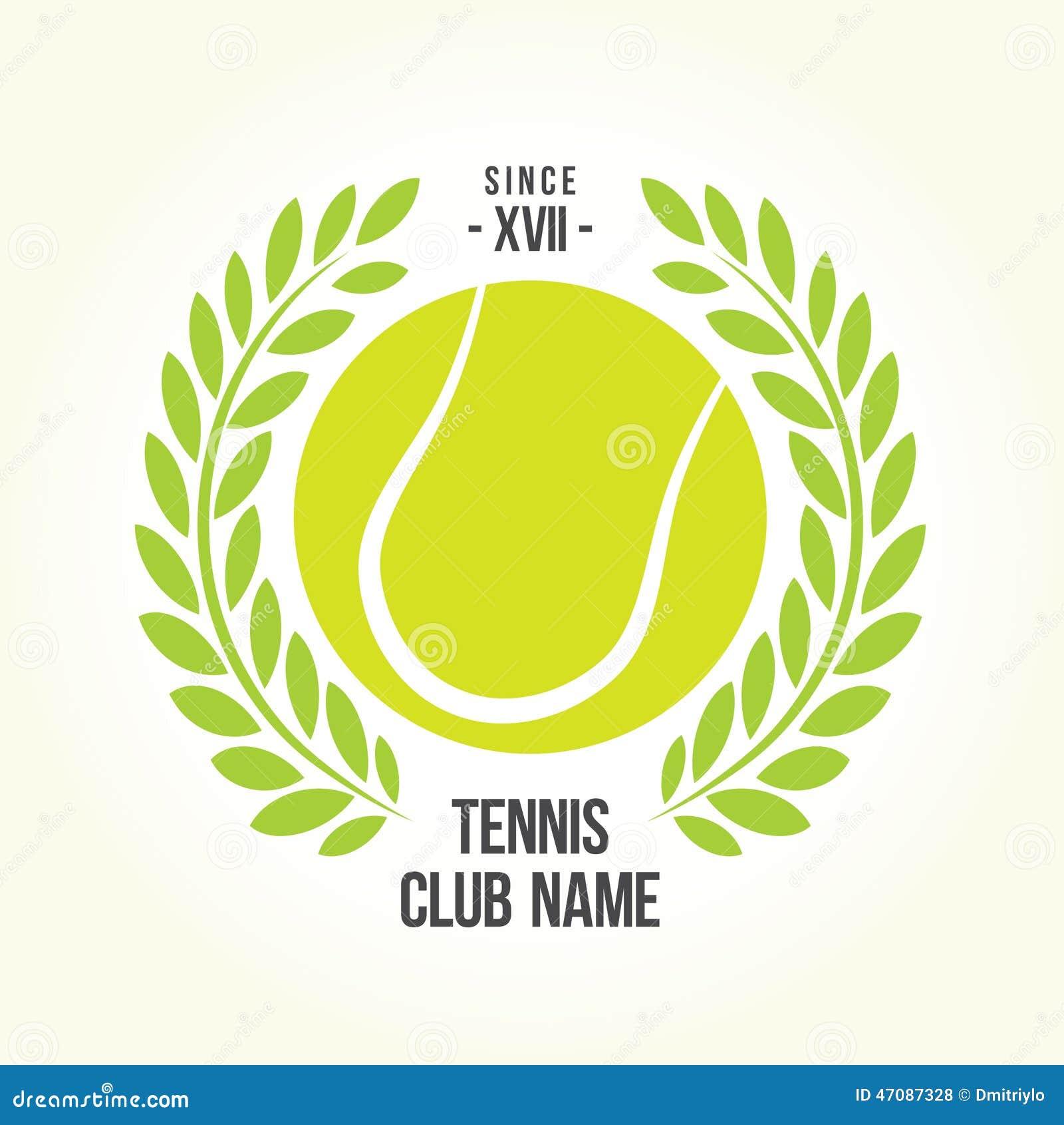 Logo De Balle De Tennis Illustration De Vecteur Image