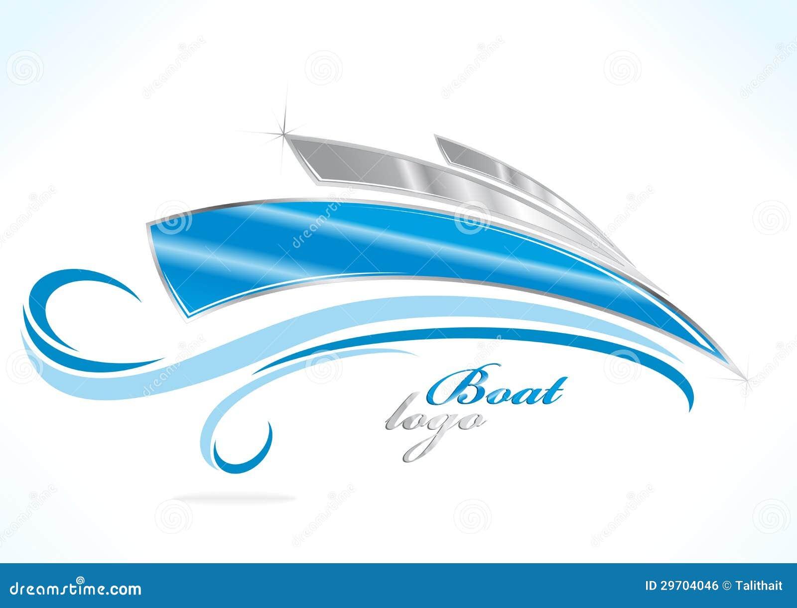 Logo de bateau d affaires