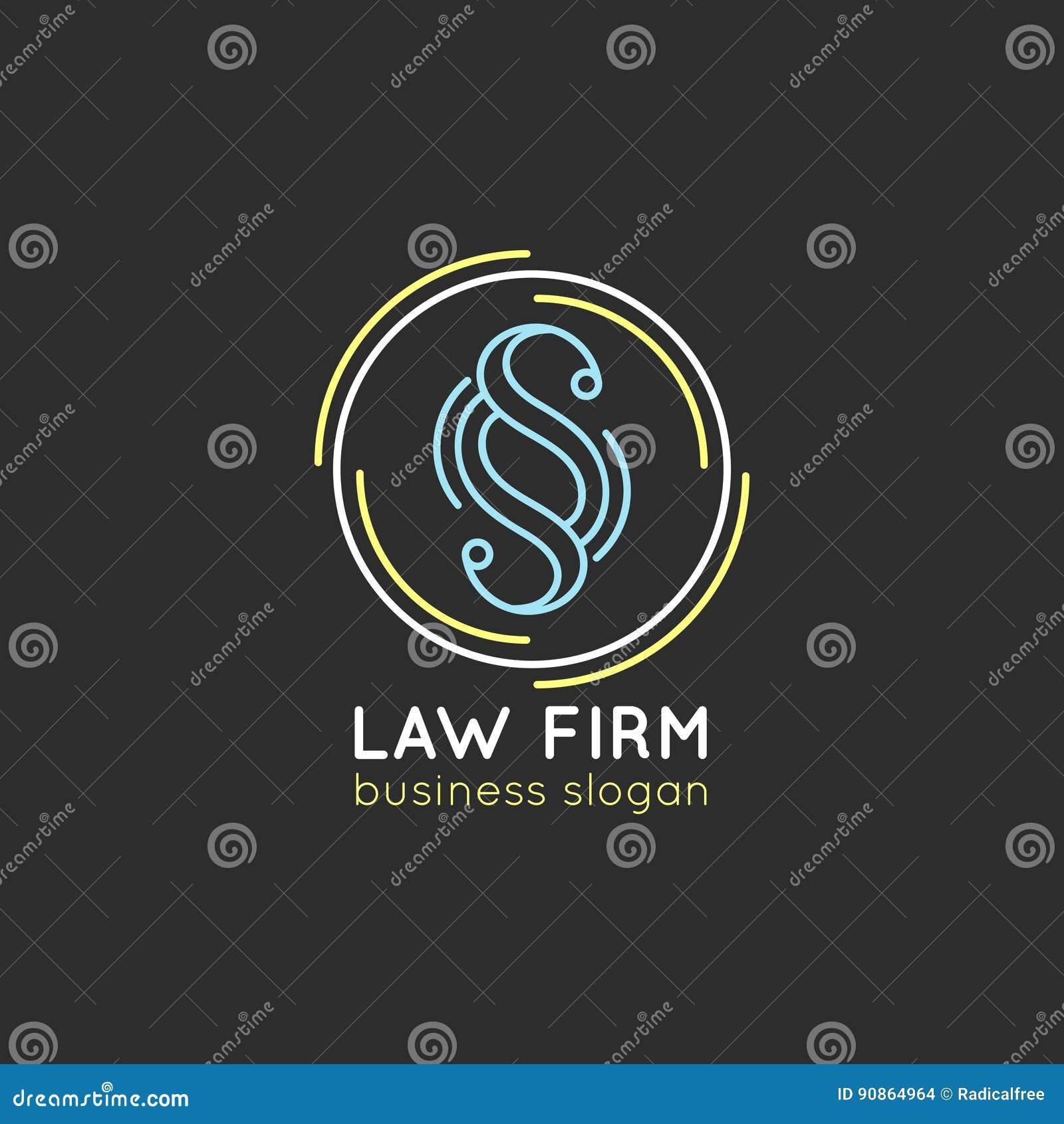Logo de cabinet juridique Dirigez la mandataire de vintage, label d avocat, insigne ferme juridique Acte, principe, conception ju