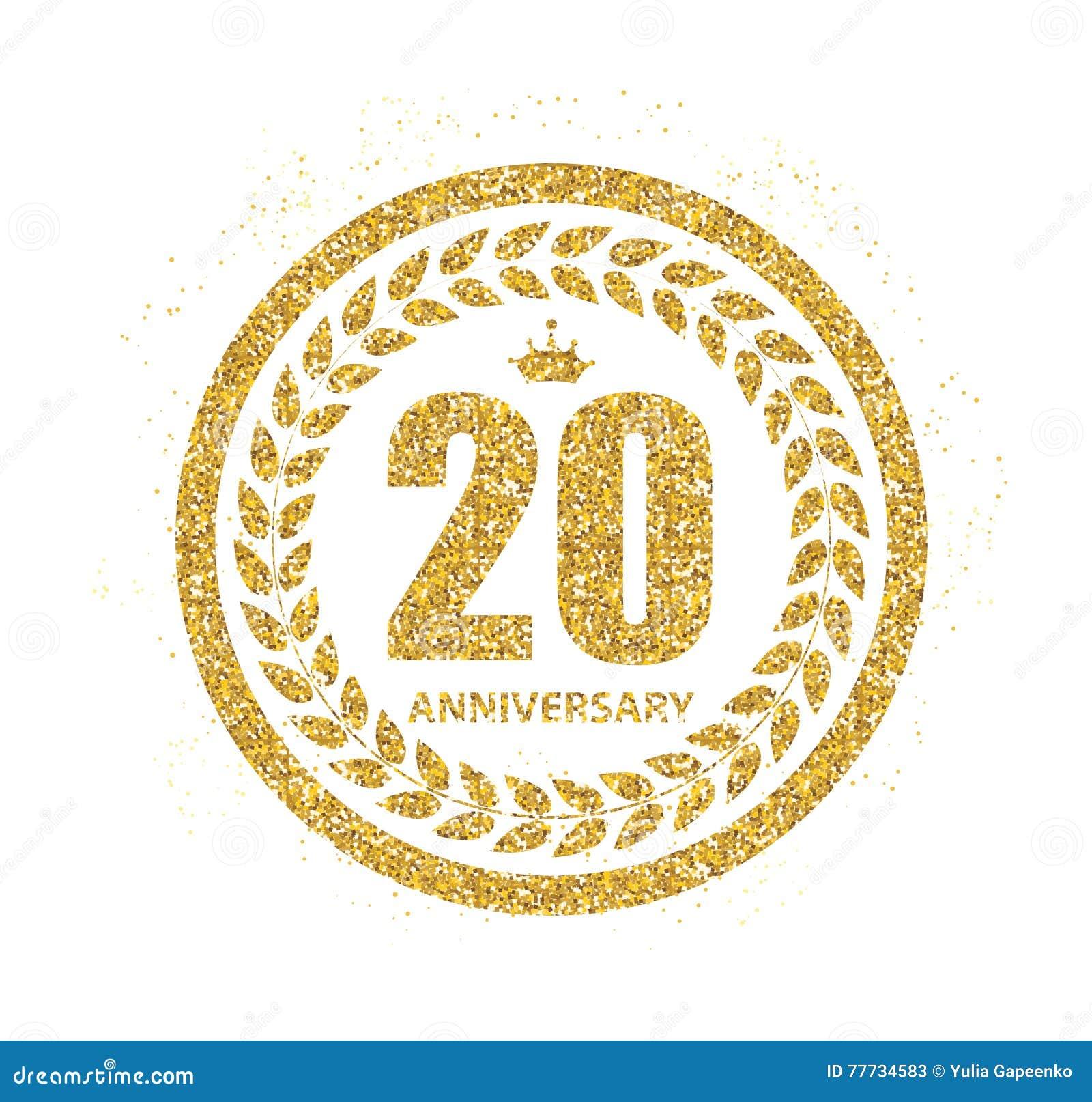 Logo De Calibre 20 Ans Danniversaire Dillustration De Vecteur