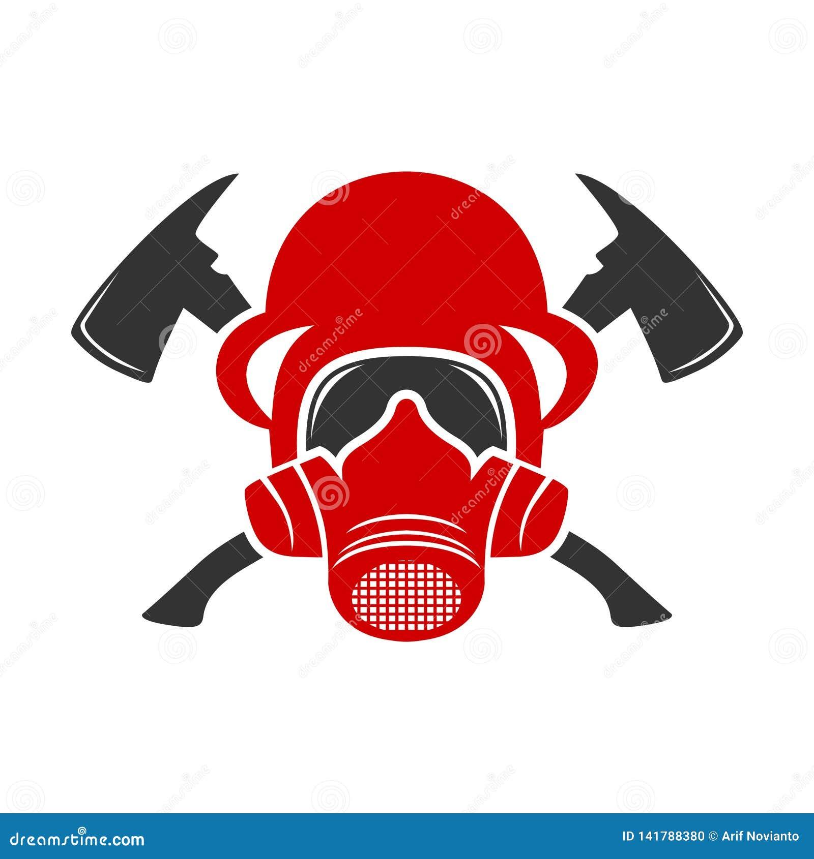 Logo de casque du feu