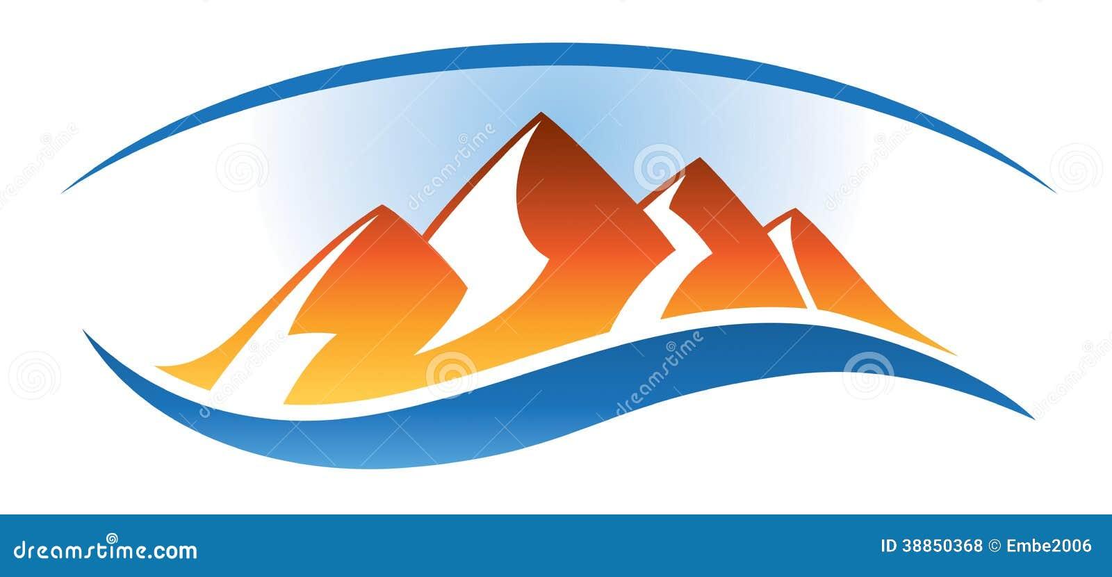 Logo de chaîne de montagne