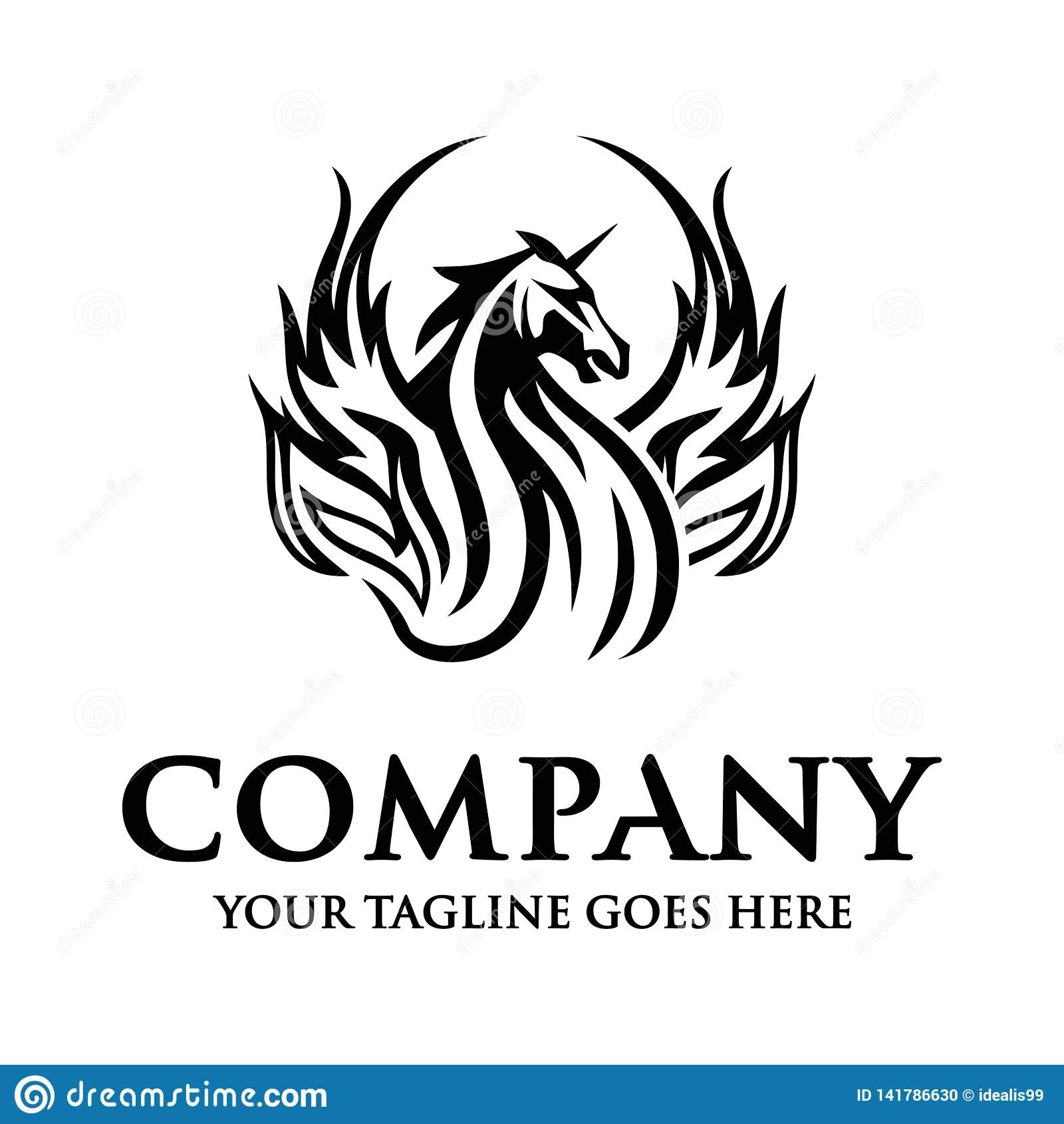 Logo de cheval de licorne