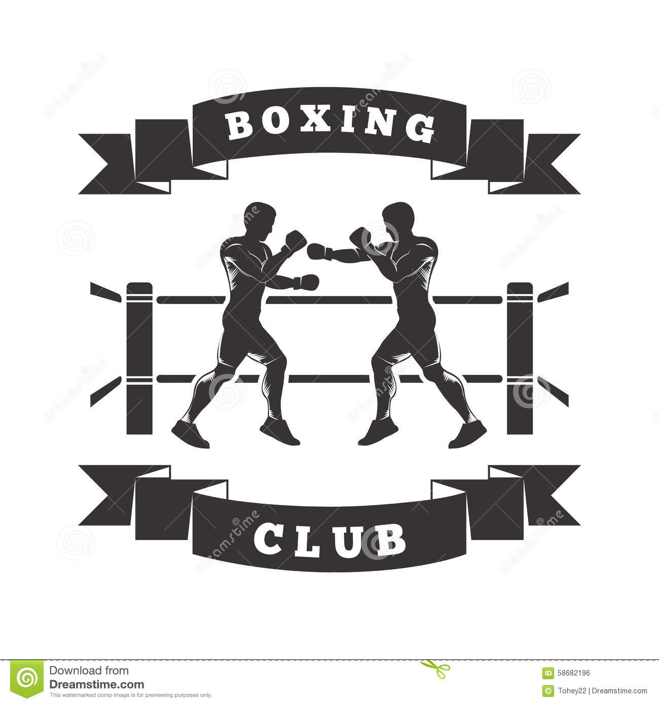 logo de club de boxe illustration de vecteur image 58682196