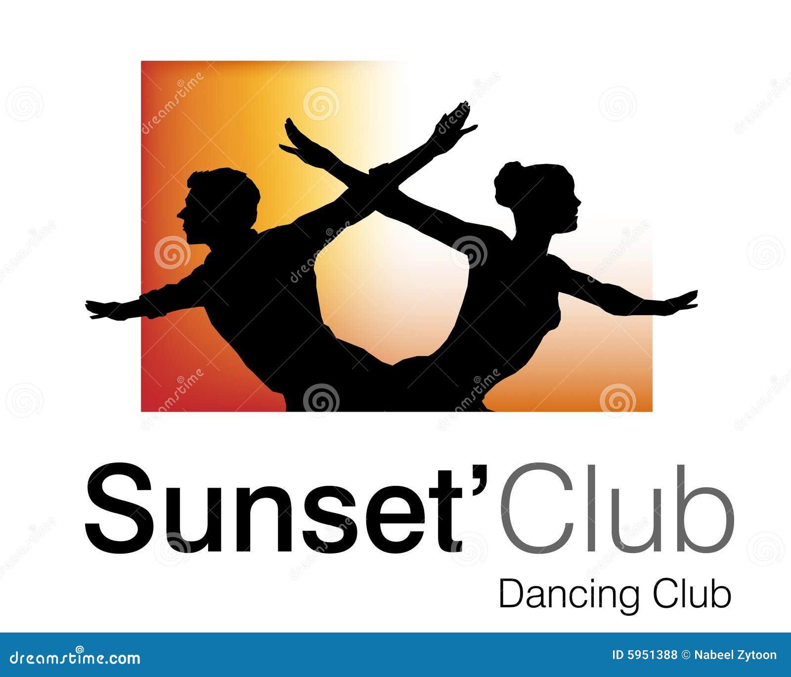 Logo de club de coucher du soleil
