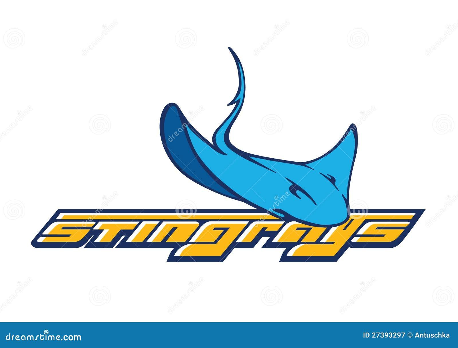 Logo de compagnie de vecteur avec le graphisme de stingray