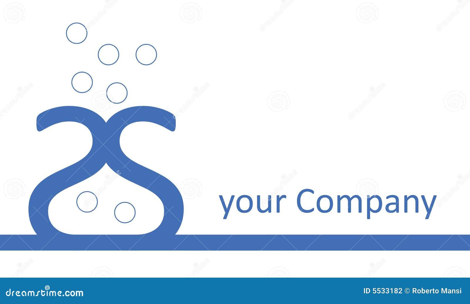 Logo de compagnie - vase bleu